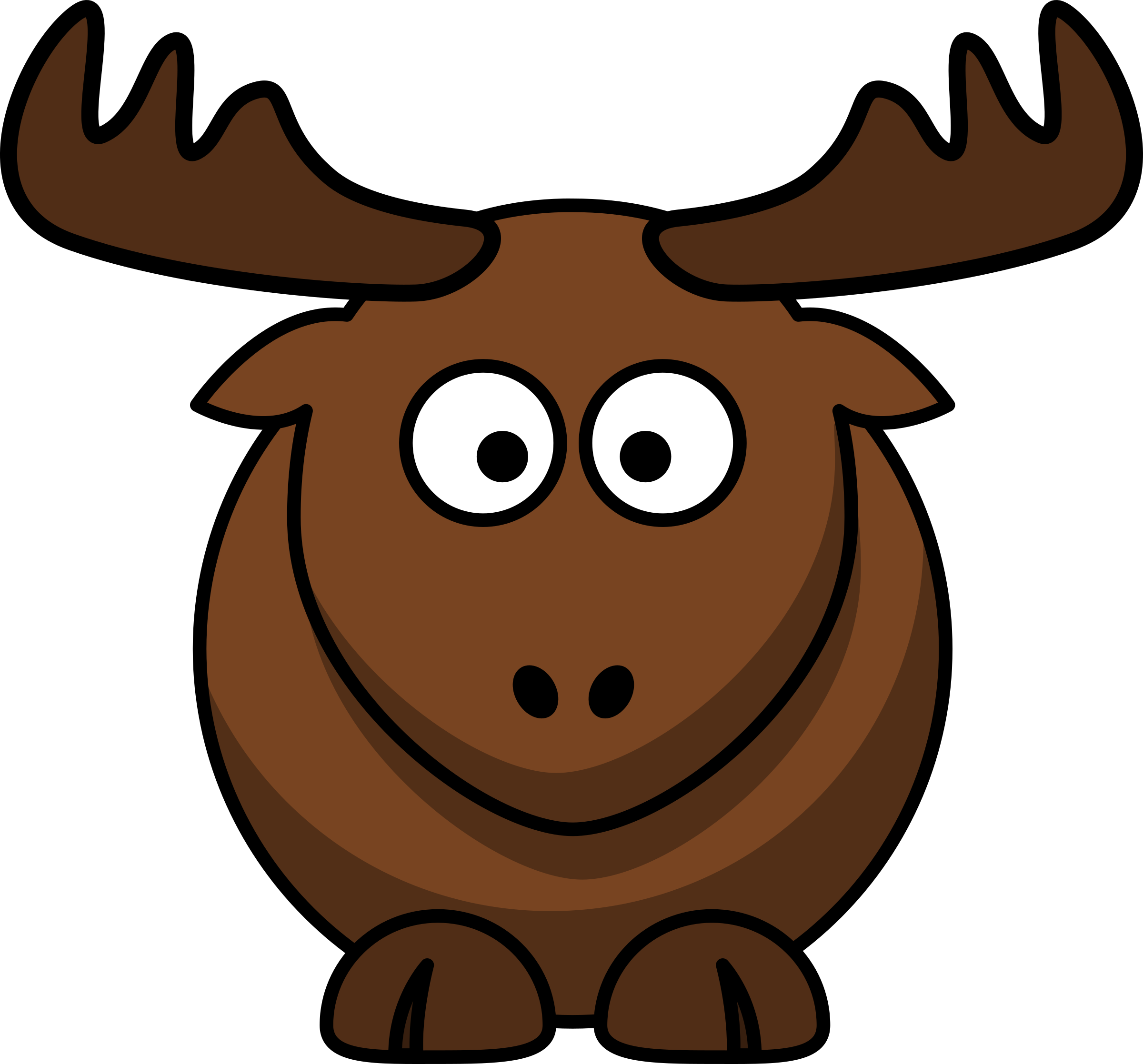 Cartoon elk by lemmling