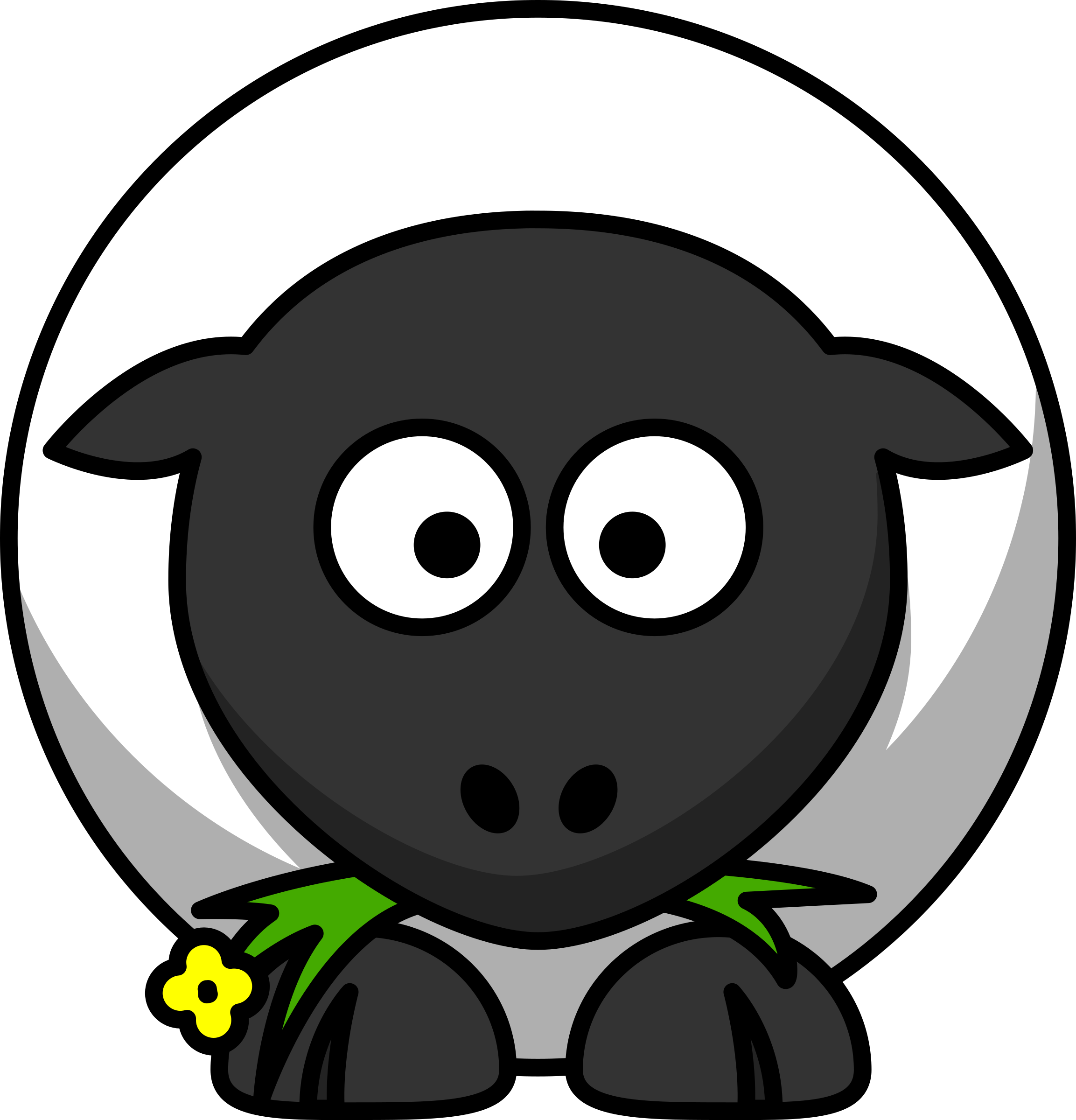 Cartoon sheep by lemmling