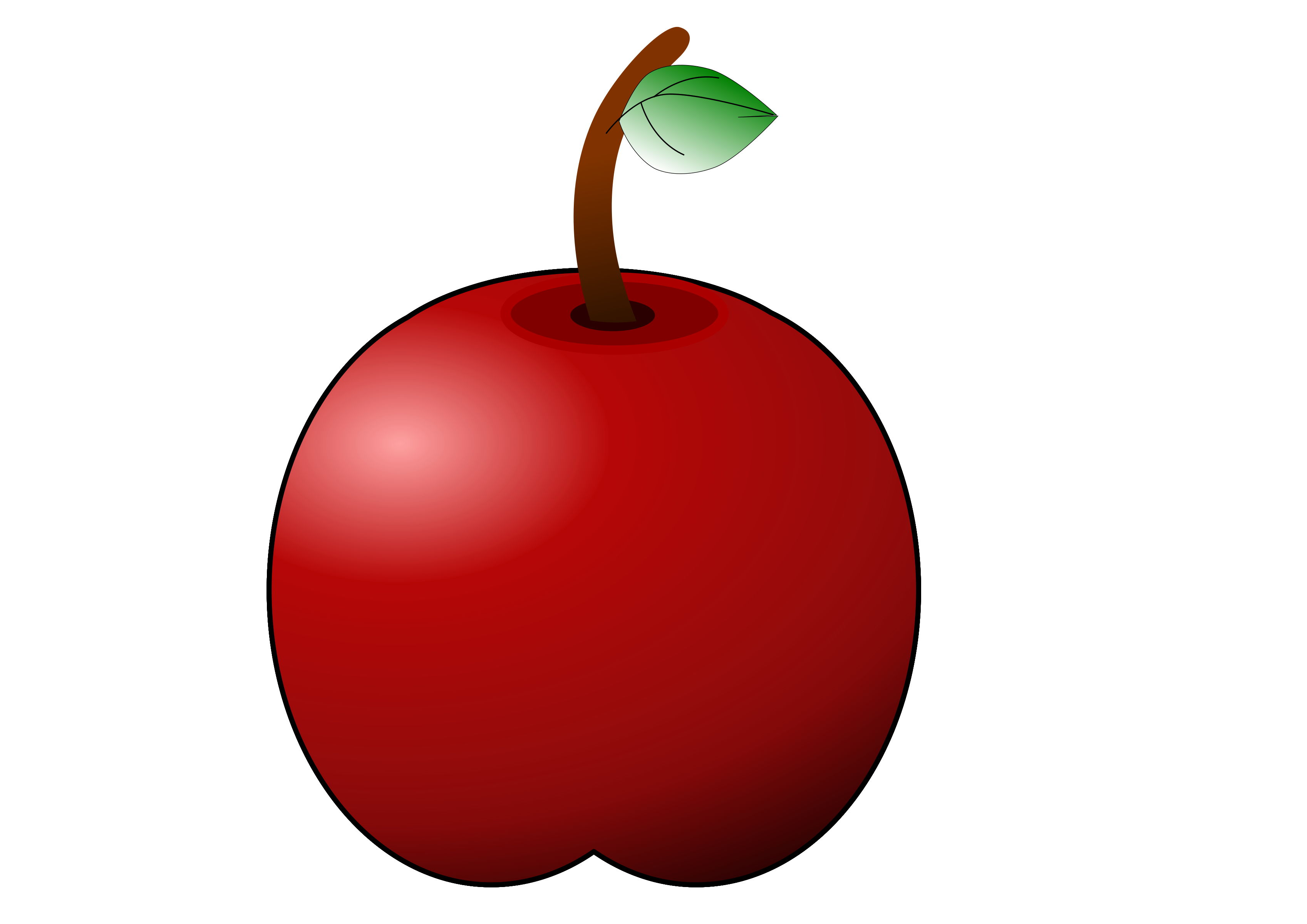 glossy apple by linkenart