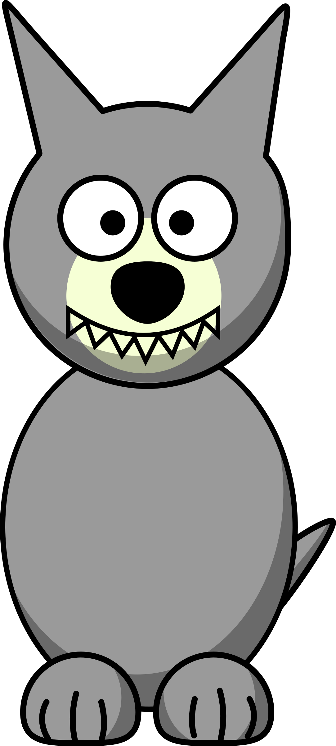 Clipart - Cartoon Wolf