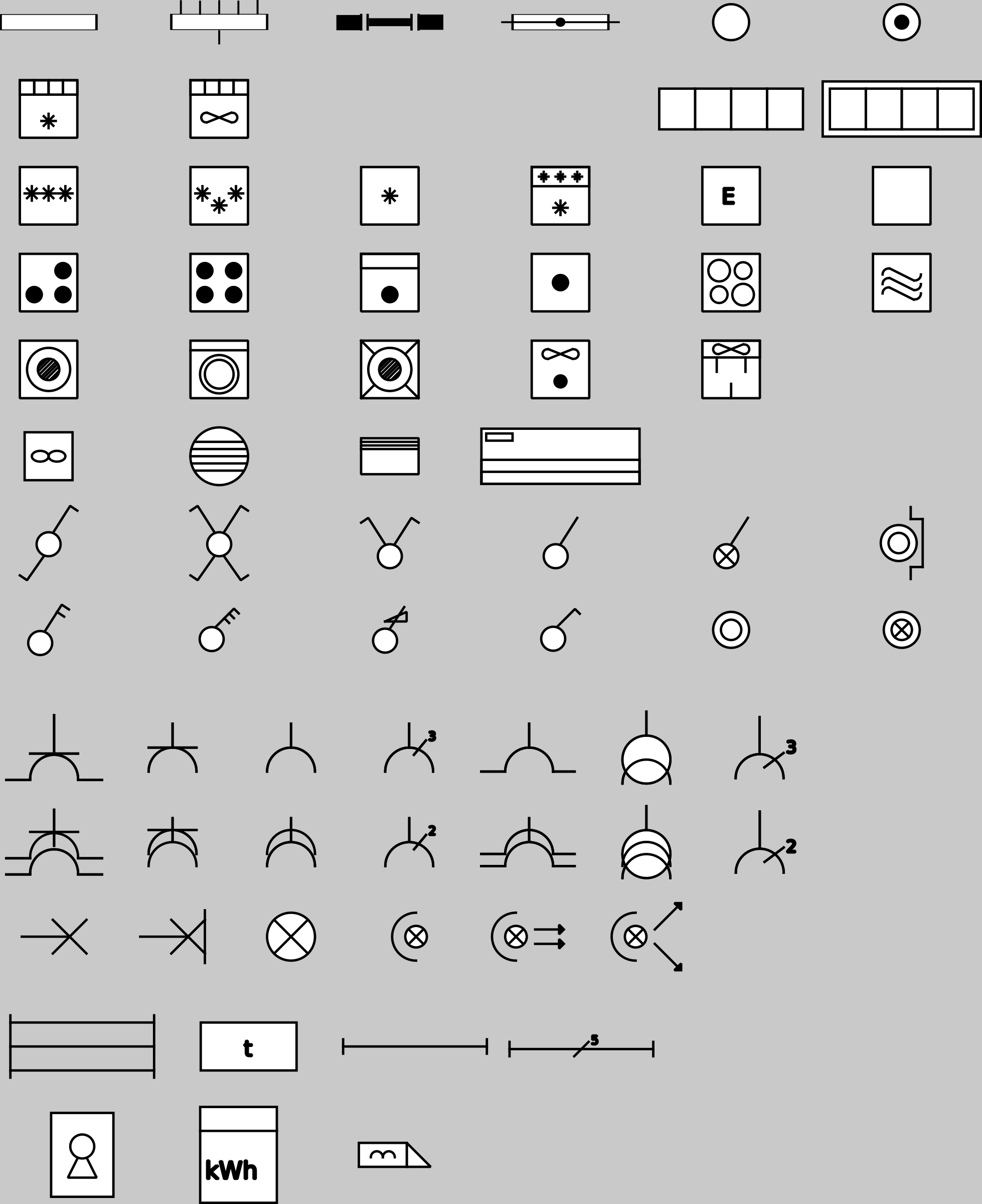 Clipart - Domestic Electric Symbols (RGIE - AREI)