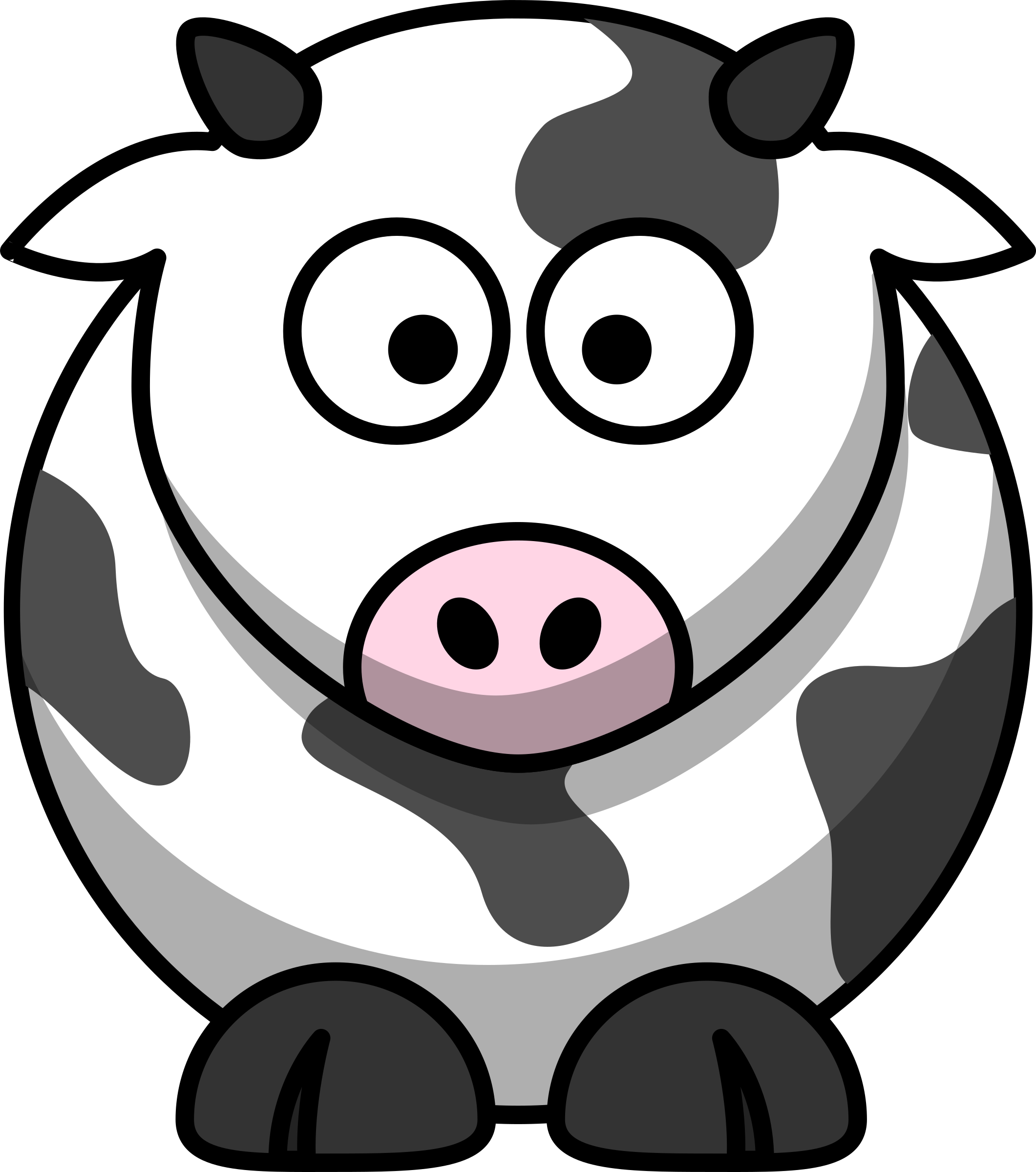 Clipart - Cartoon cow