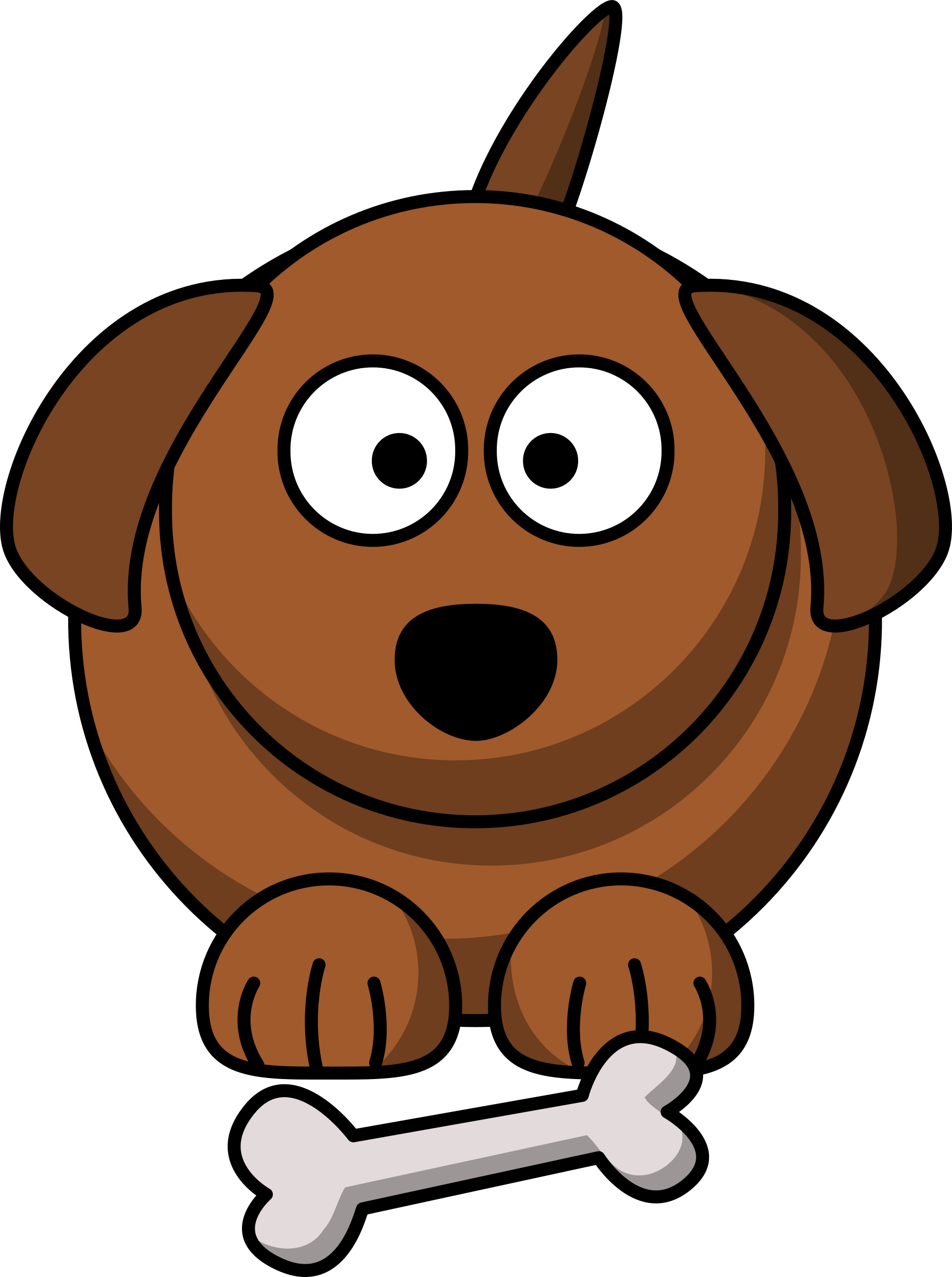 Cartoon dog by lemmling