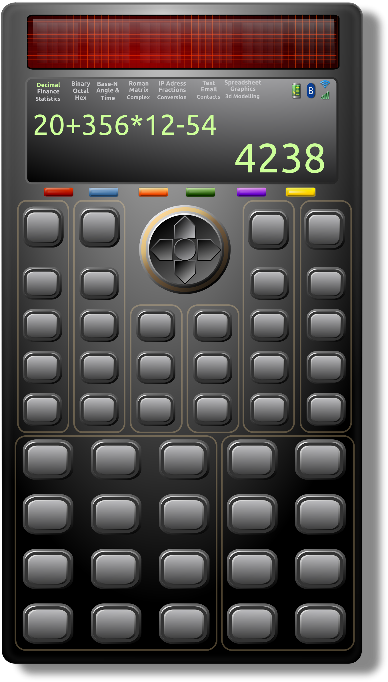 Clipart Scientific Solar Calculator 1