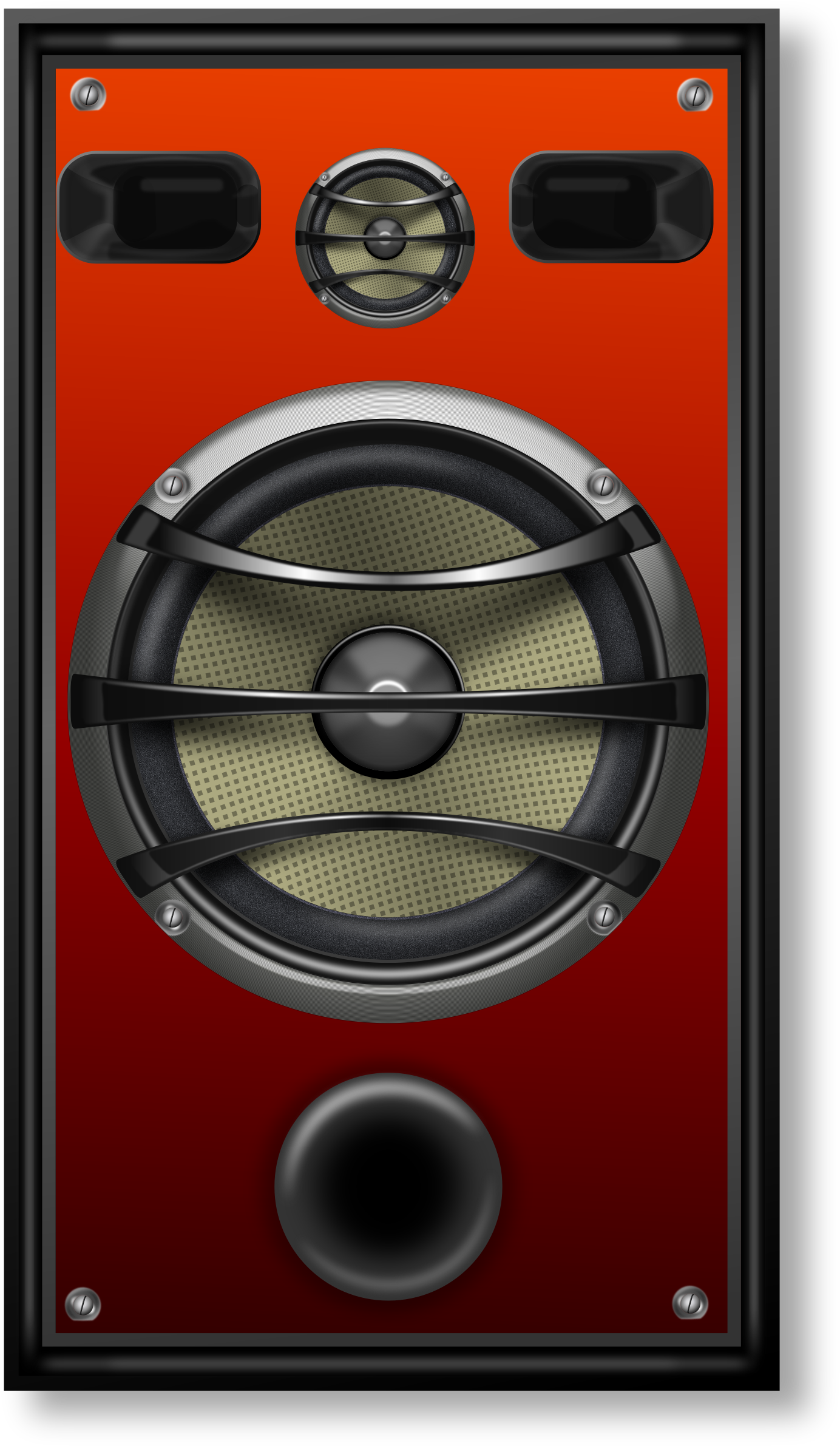 Clipart Studio Speaker 1 Orange Grill