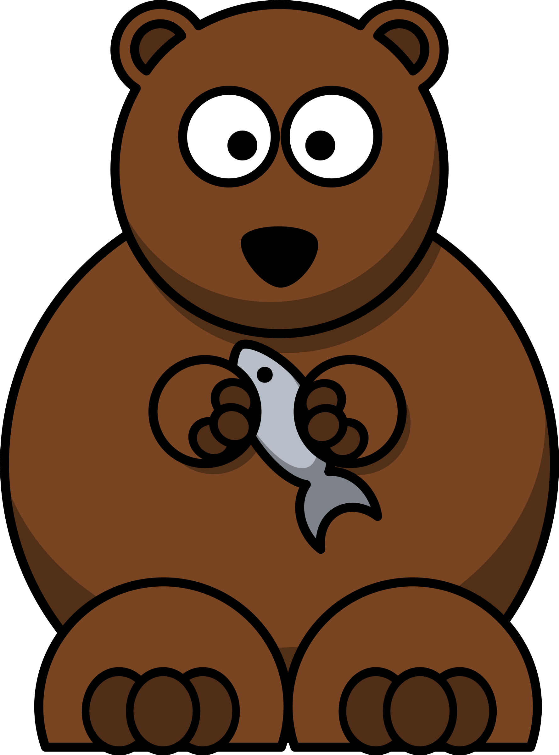 Cartoon bear by lemmling