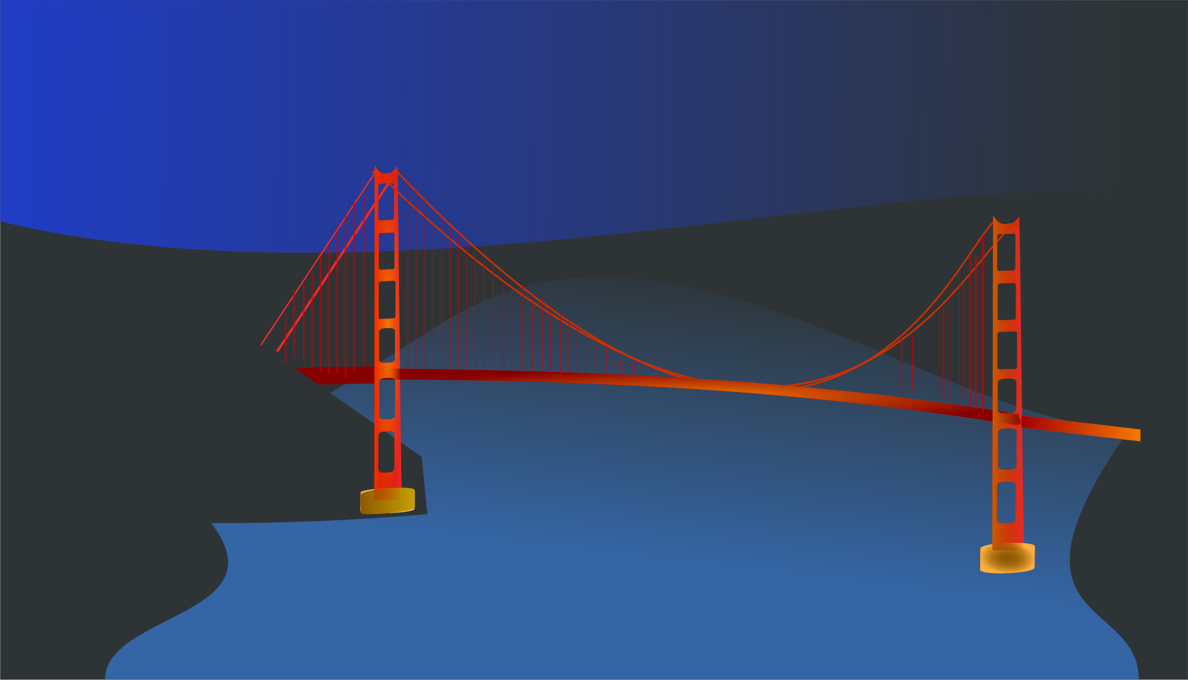 Golden Gate bridge by night by chatard