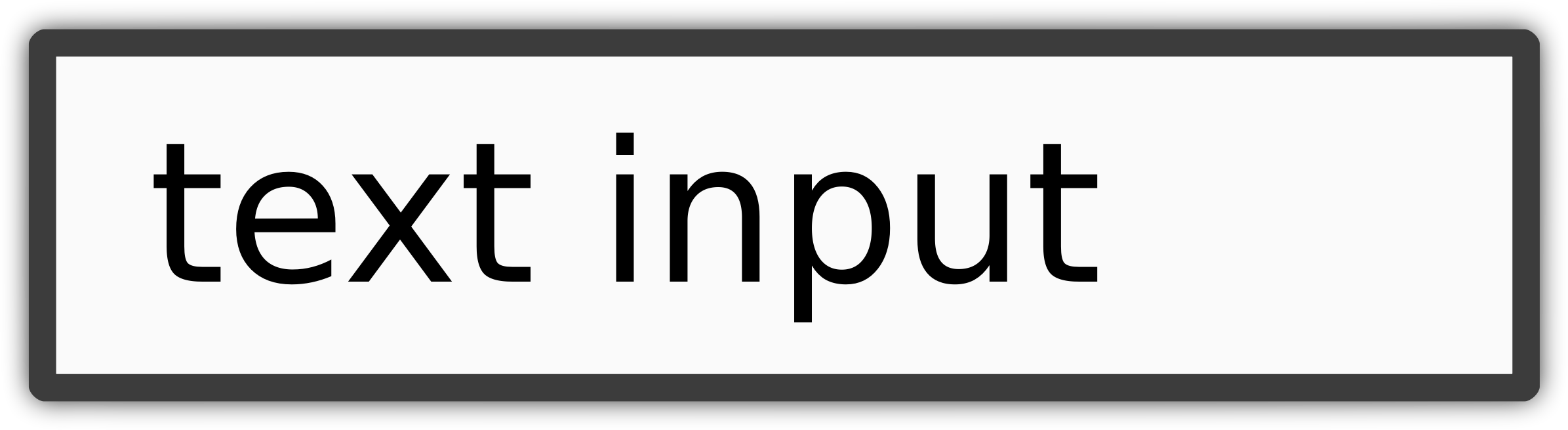 text input by snodnipper