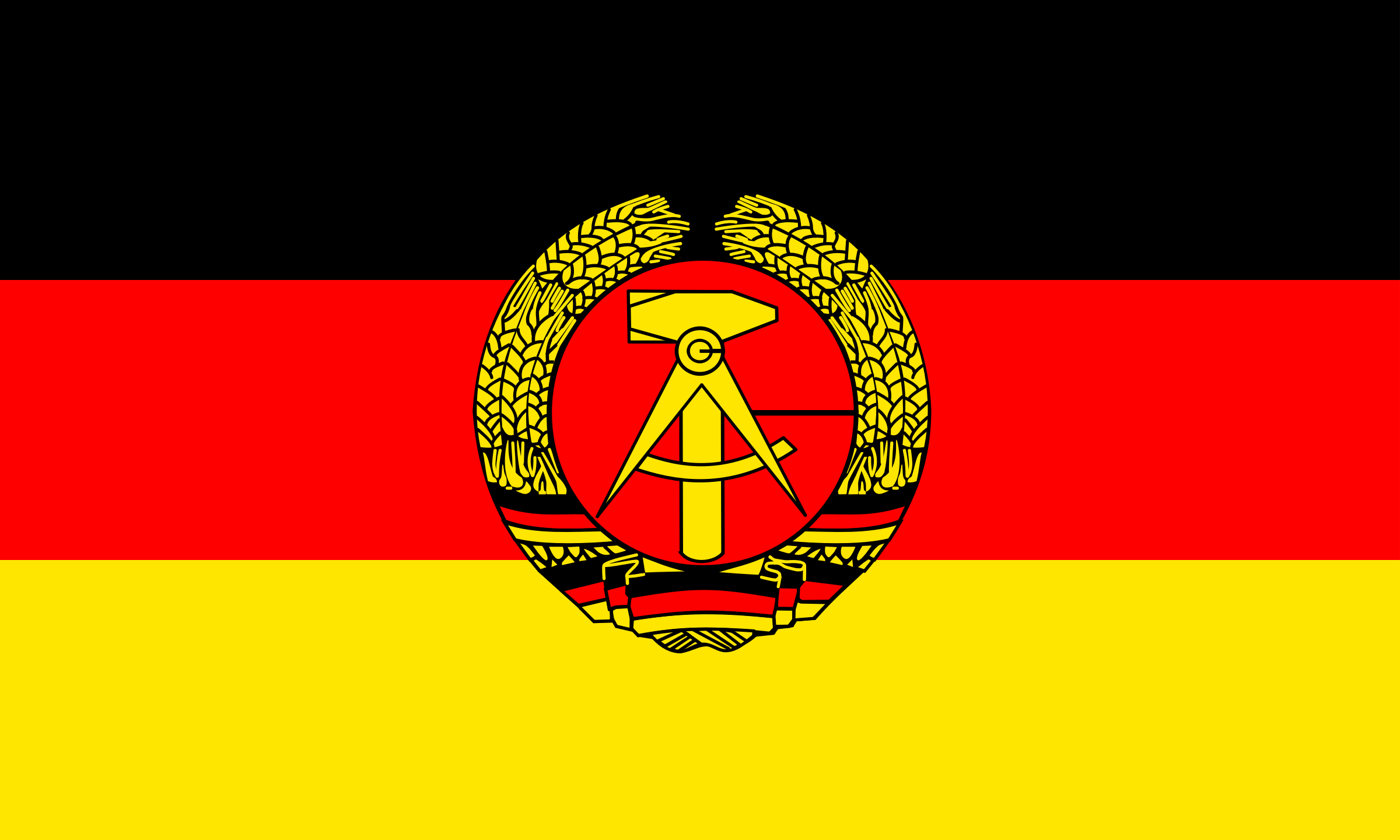 Flag of the German Democratic Republic by tobias