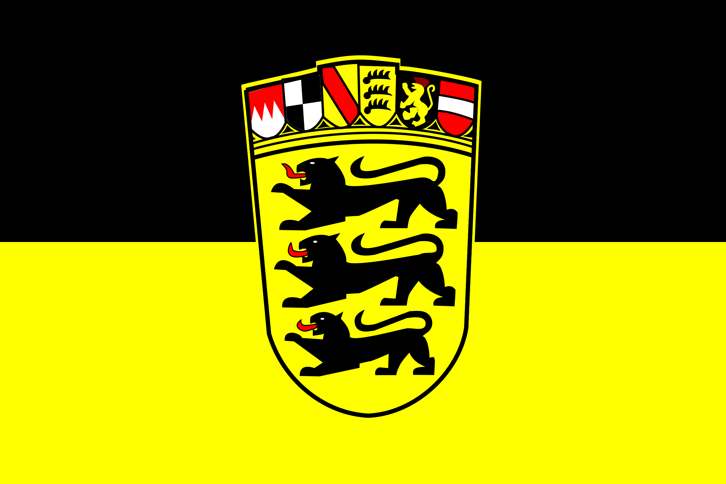 Flag of Baden-Württemberg by tobias