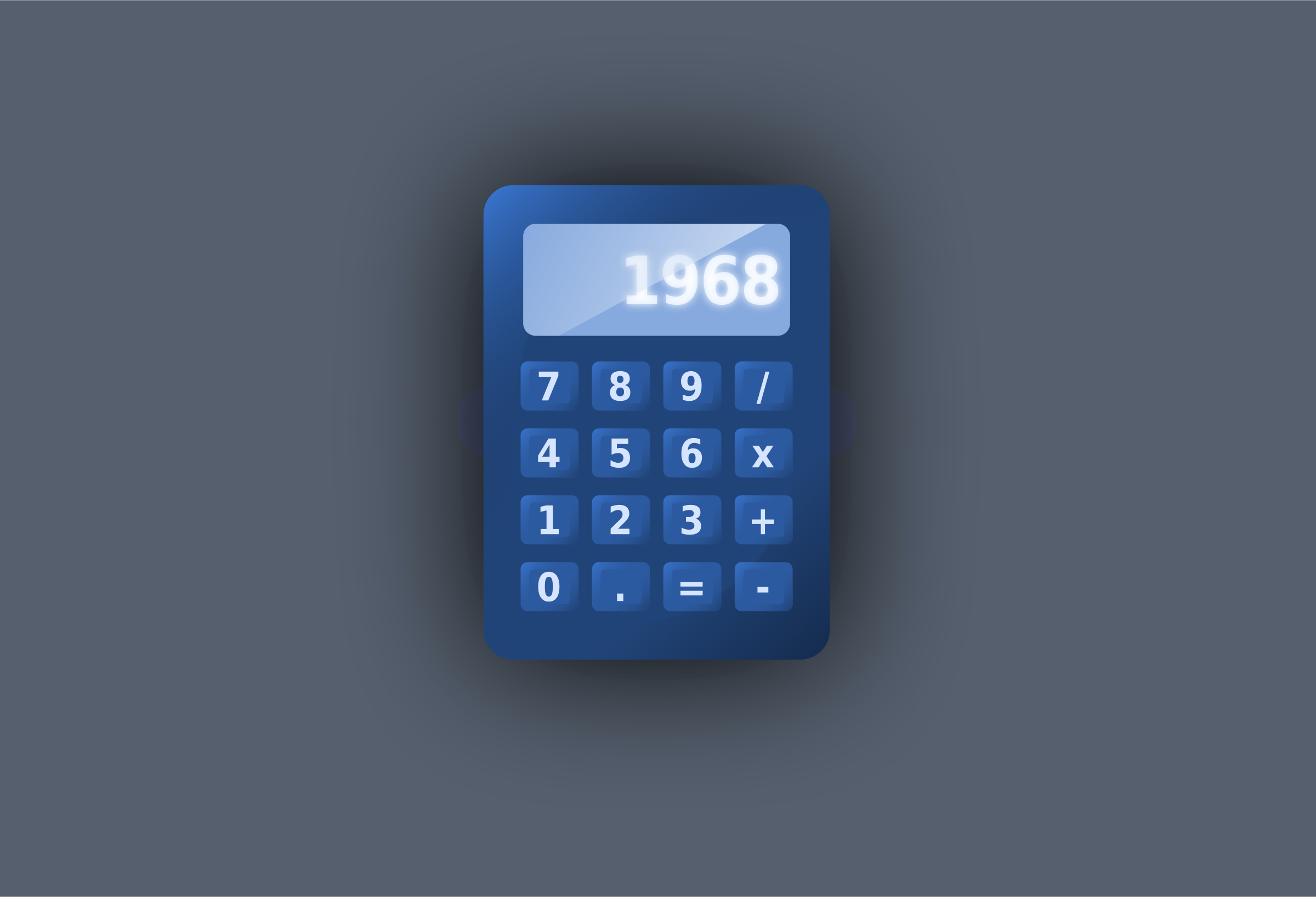 Blue UI calculator by inkscaper