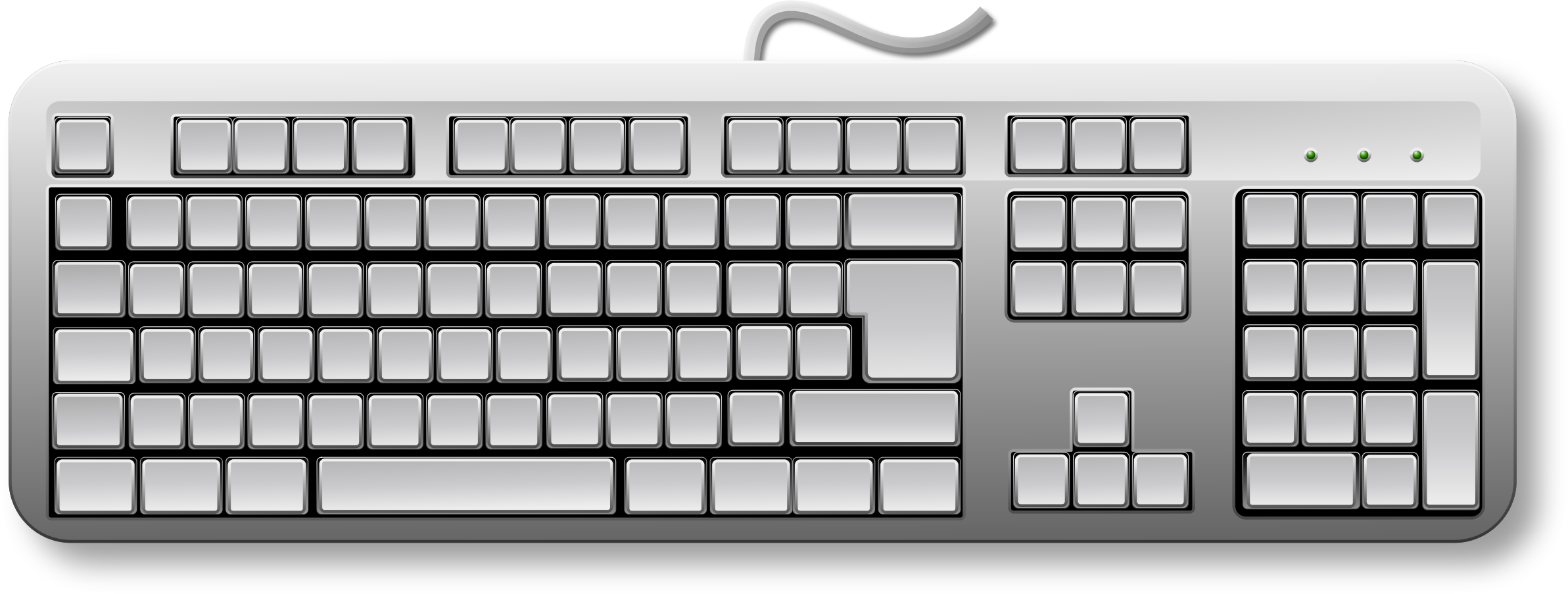 Blank Generic Keyboard by Merlin2525