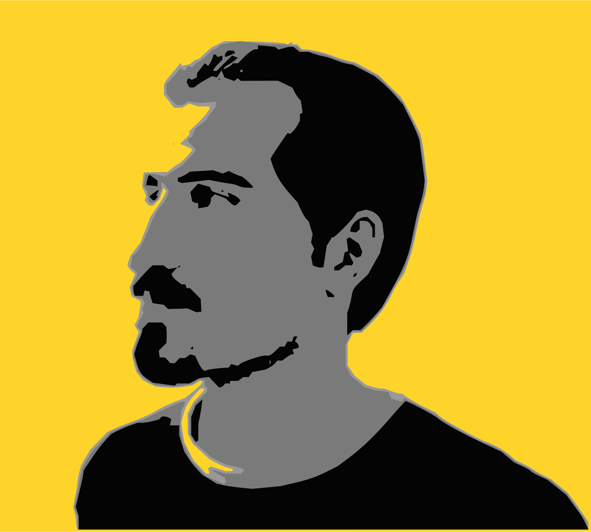 Bassel Posterized and Autotrace by lordoftheloch