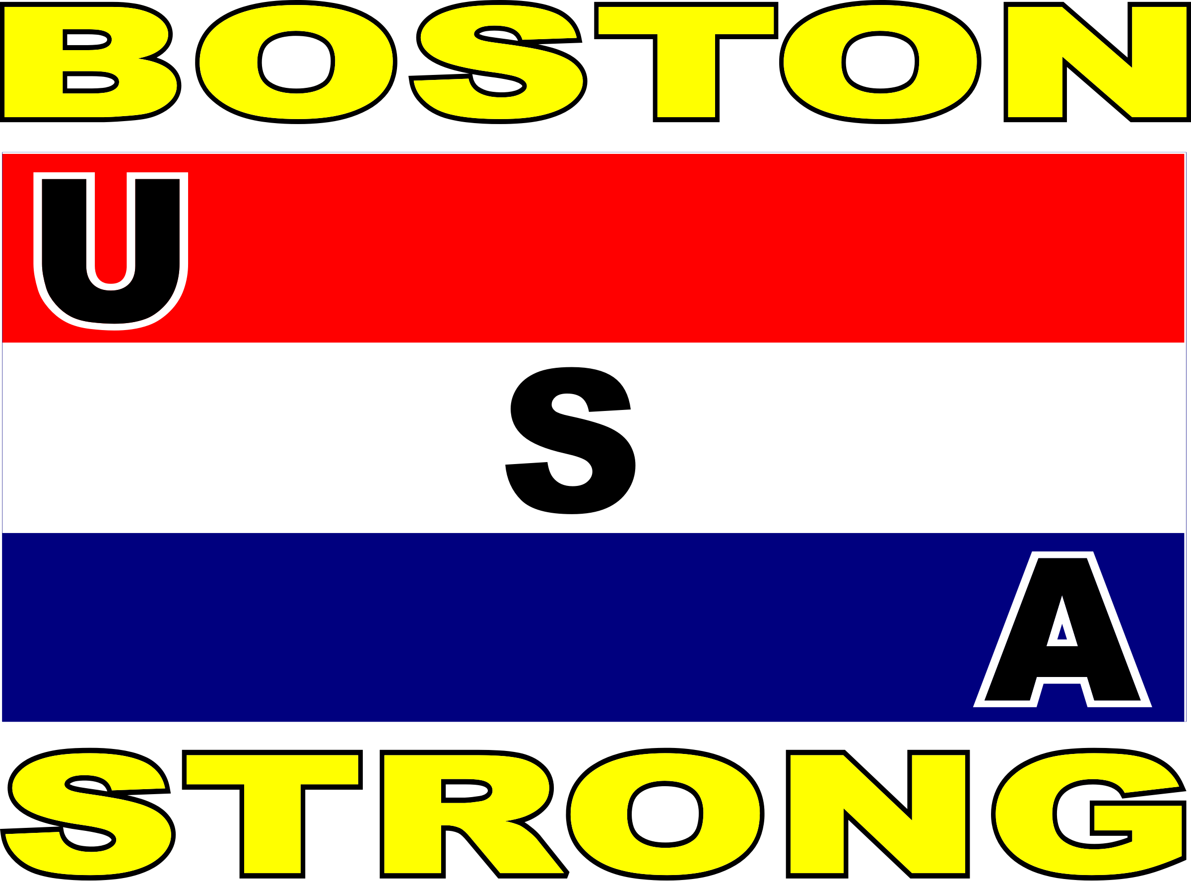 USA stripe flag Boston strong by bobby520