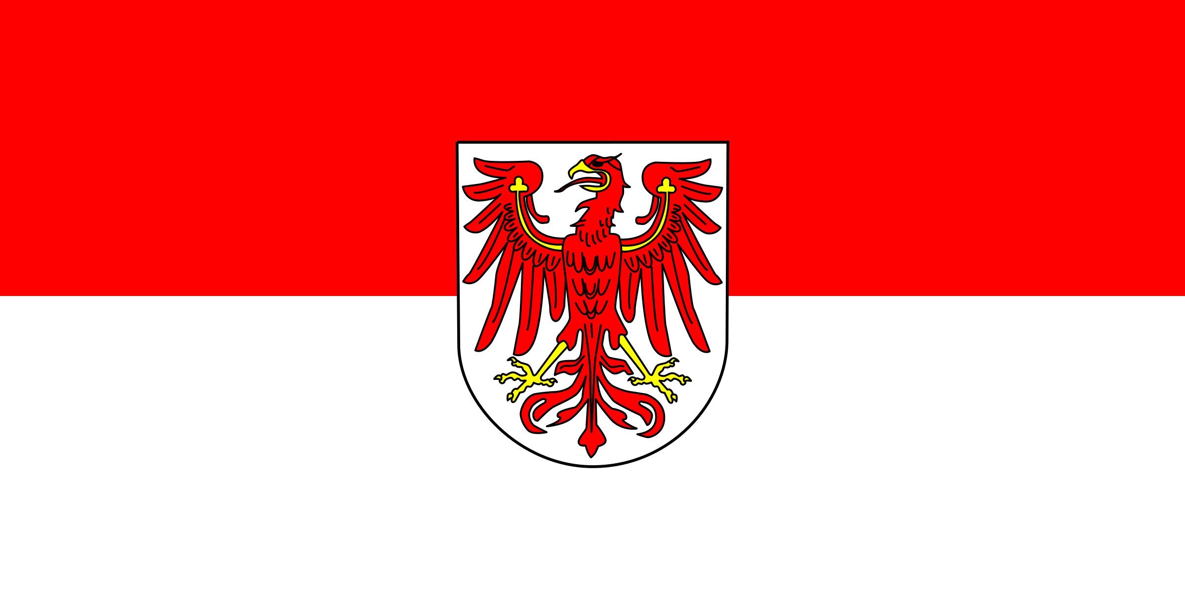Flag of Brandenburg by tobias
