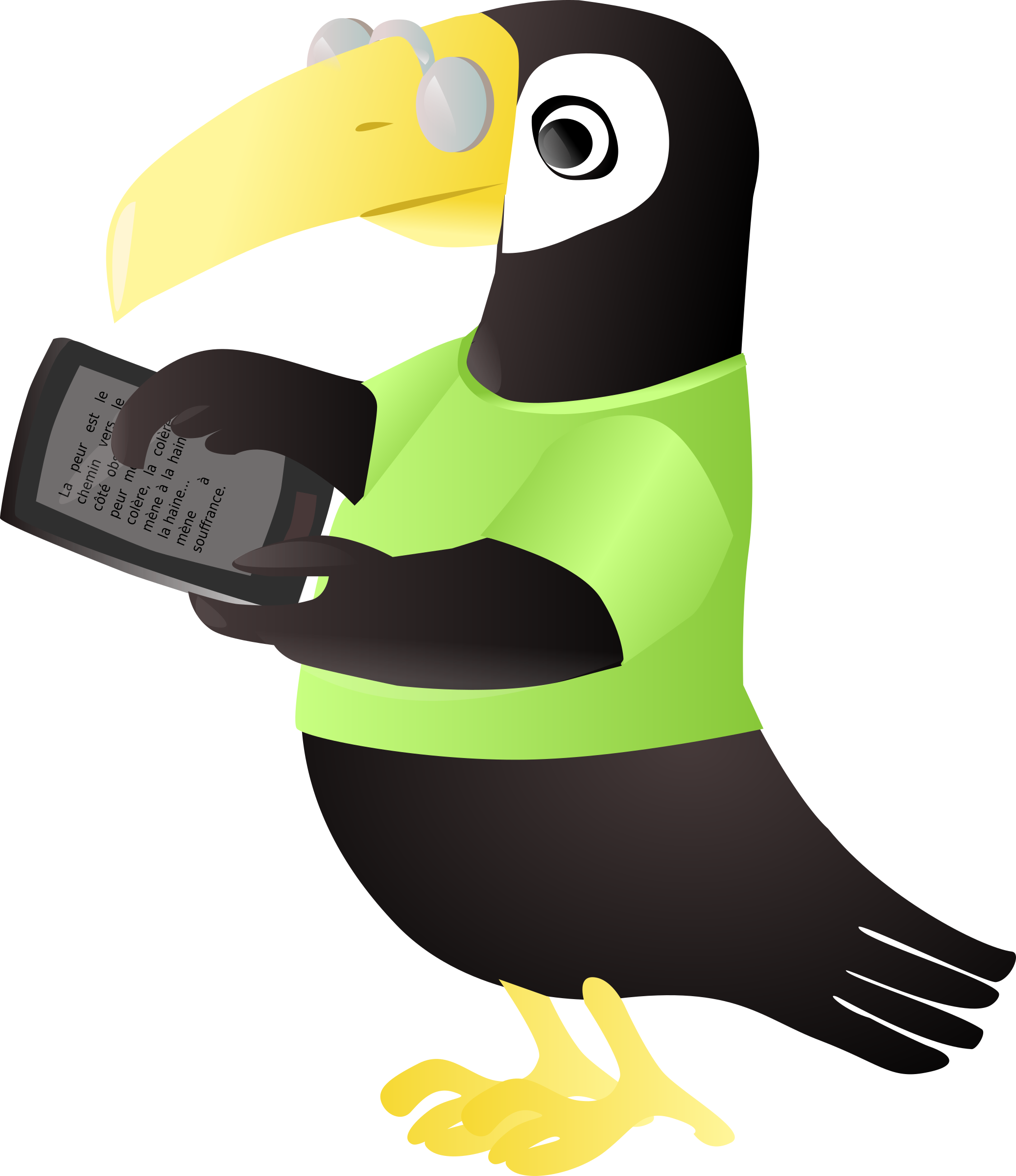 Toucan with tablet by sissone