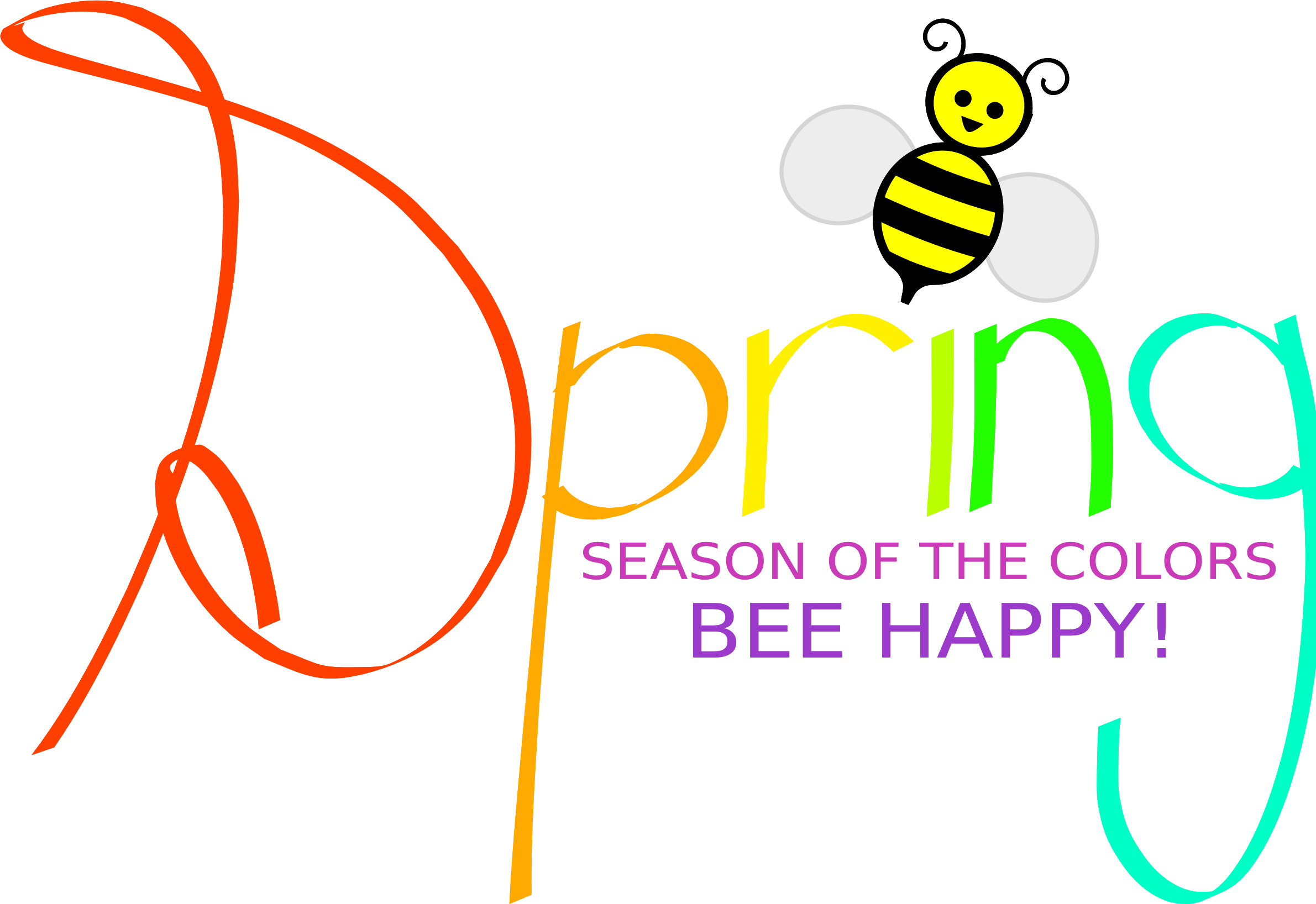Spring Season of the Colors BEE HAPPY! by tinawamsley