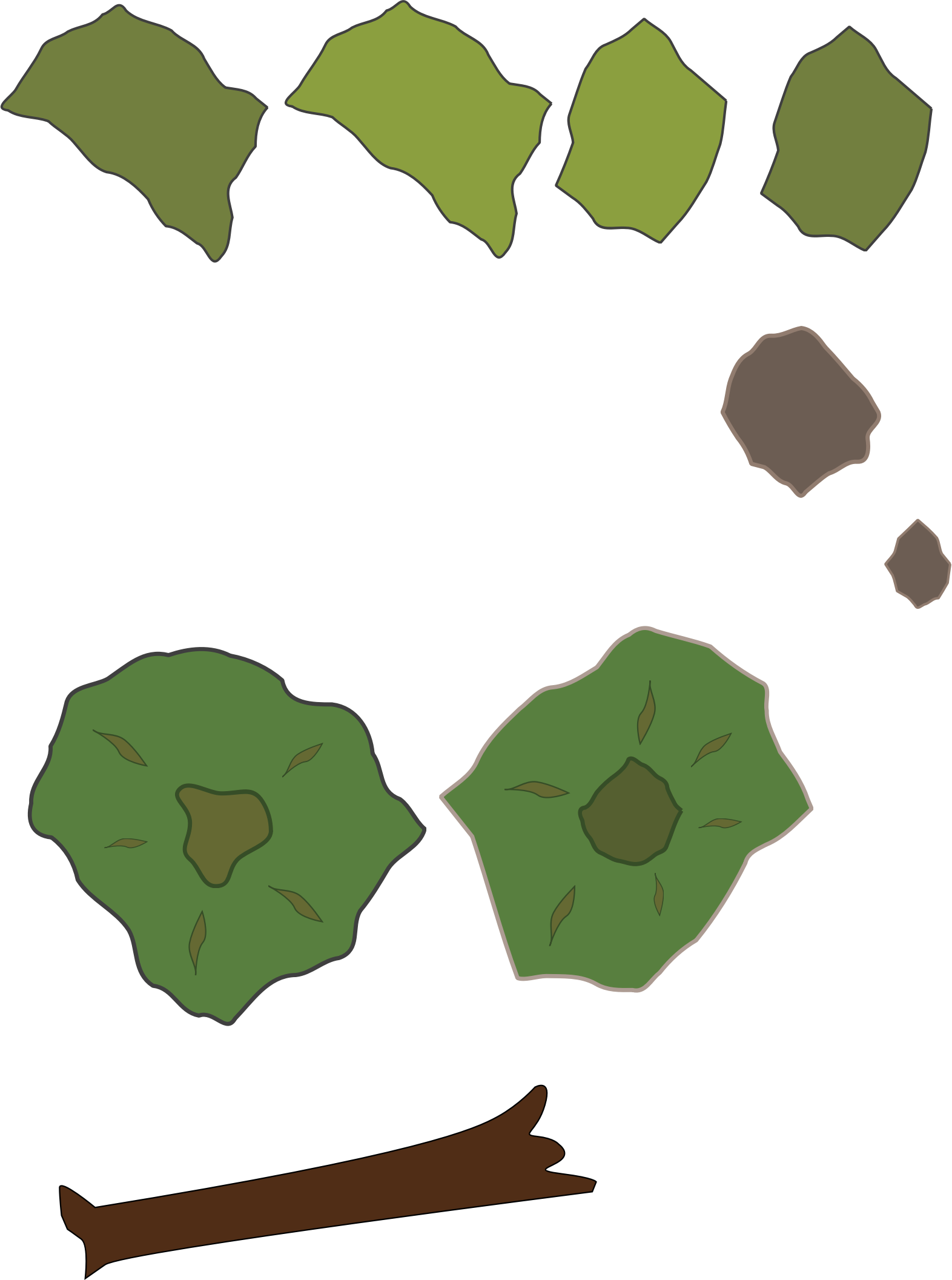 Forest Map Elements by evilestmark