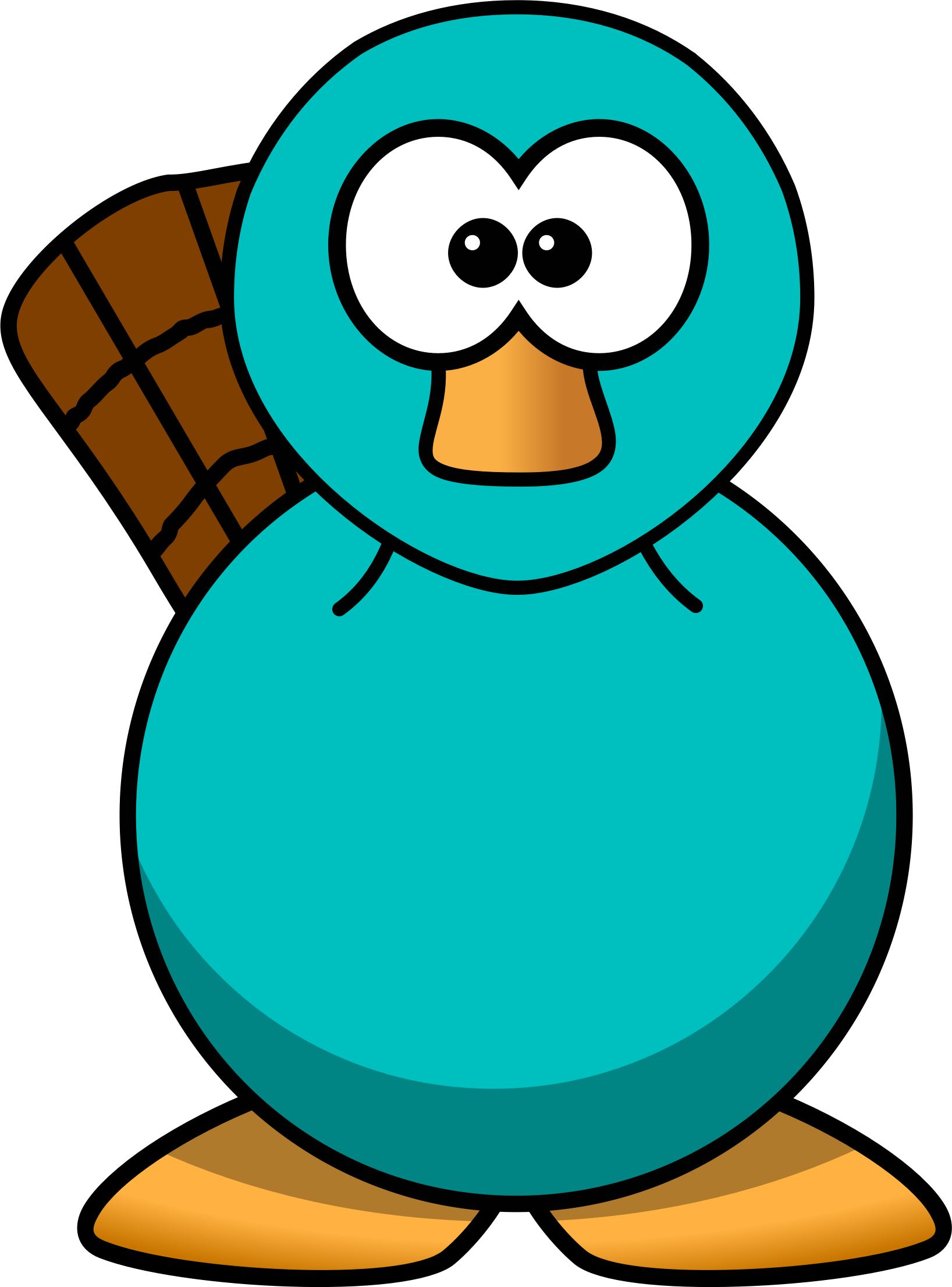 Cartoon Platypus Teal by aPAULcalypse