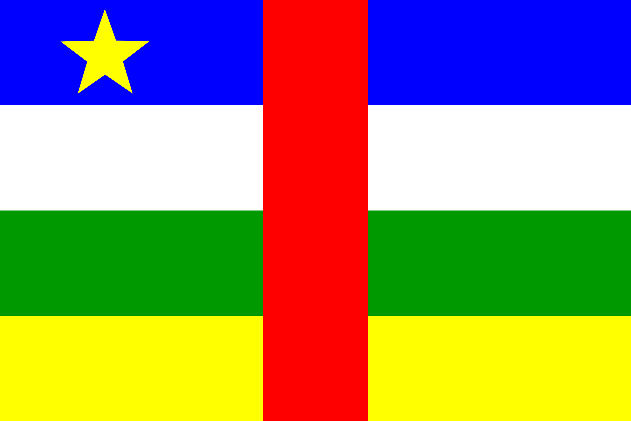 Flag of Central African Republic by tobias