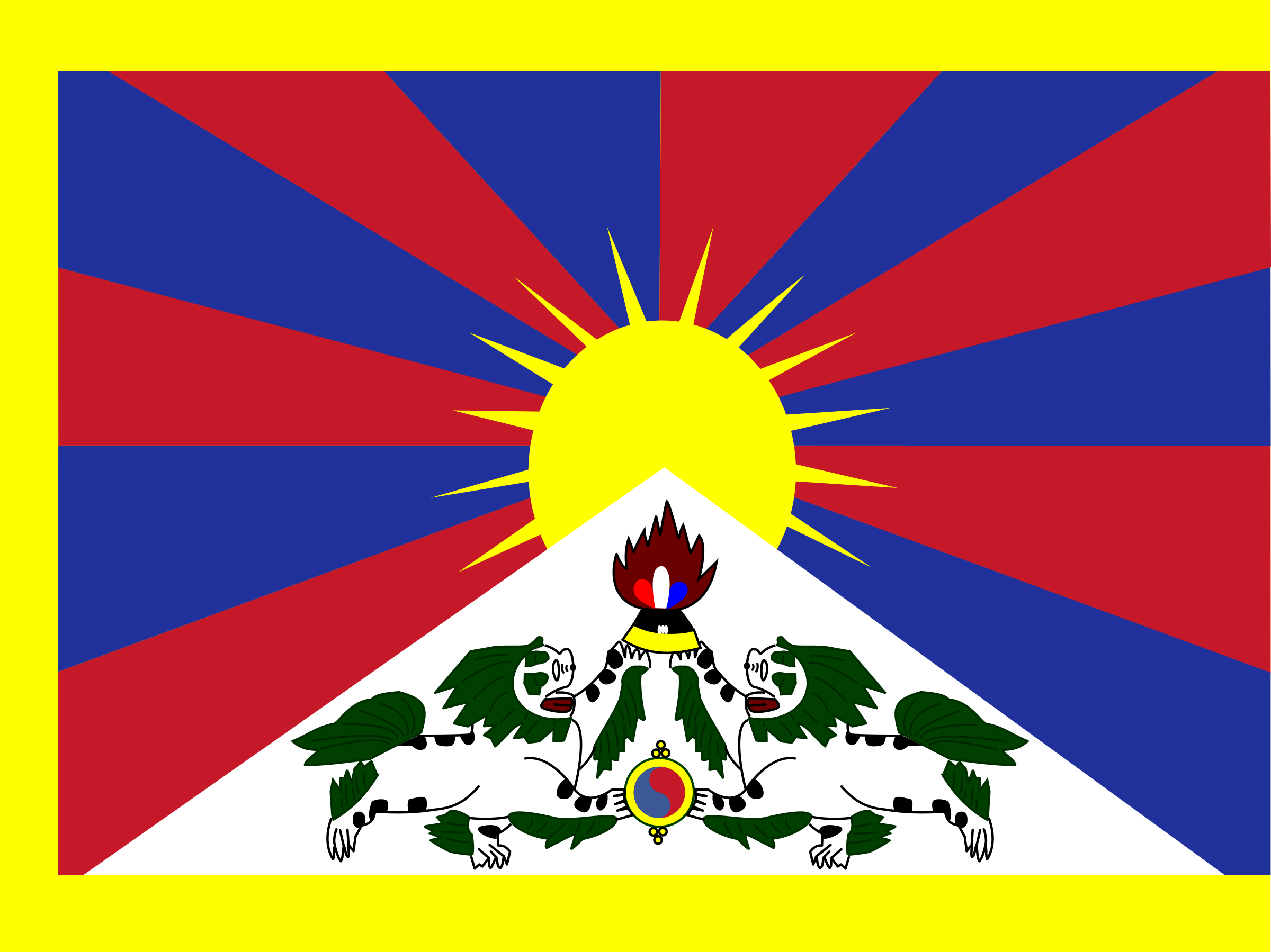 Flag of Tibet by tobias