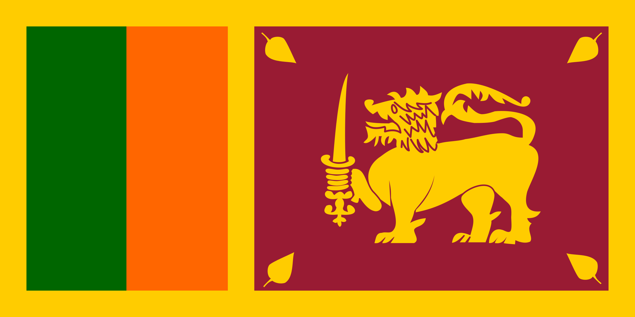 Flag of Sri Lanka by tobias