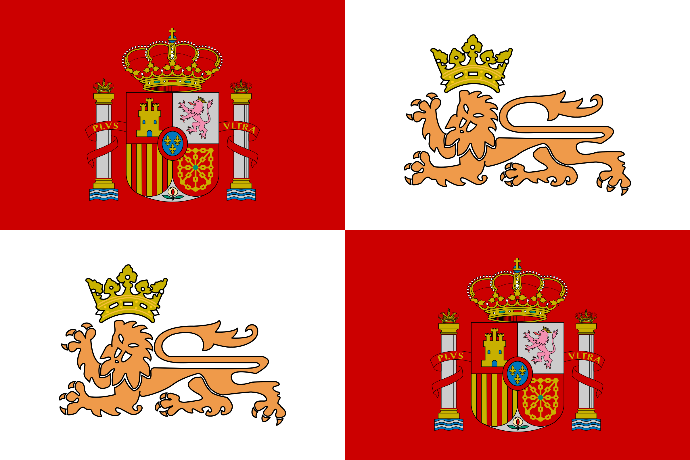 Historic Flag of the Spain Royal Navy by tobias