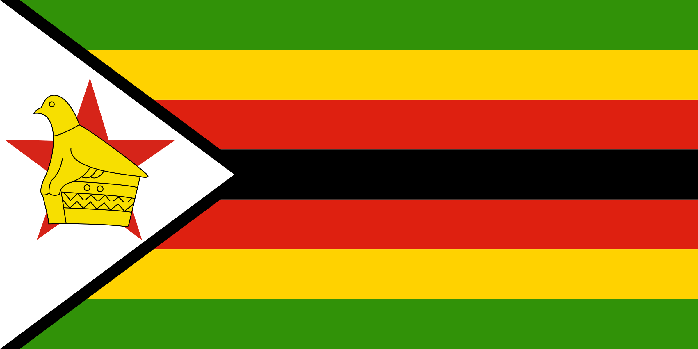 Flag of Zimbabwe by tobias