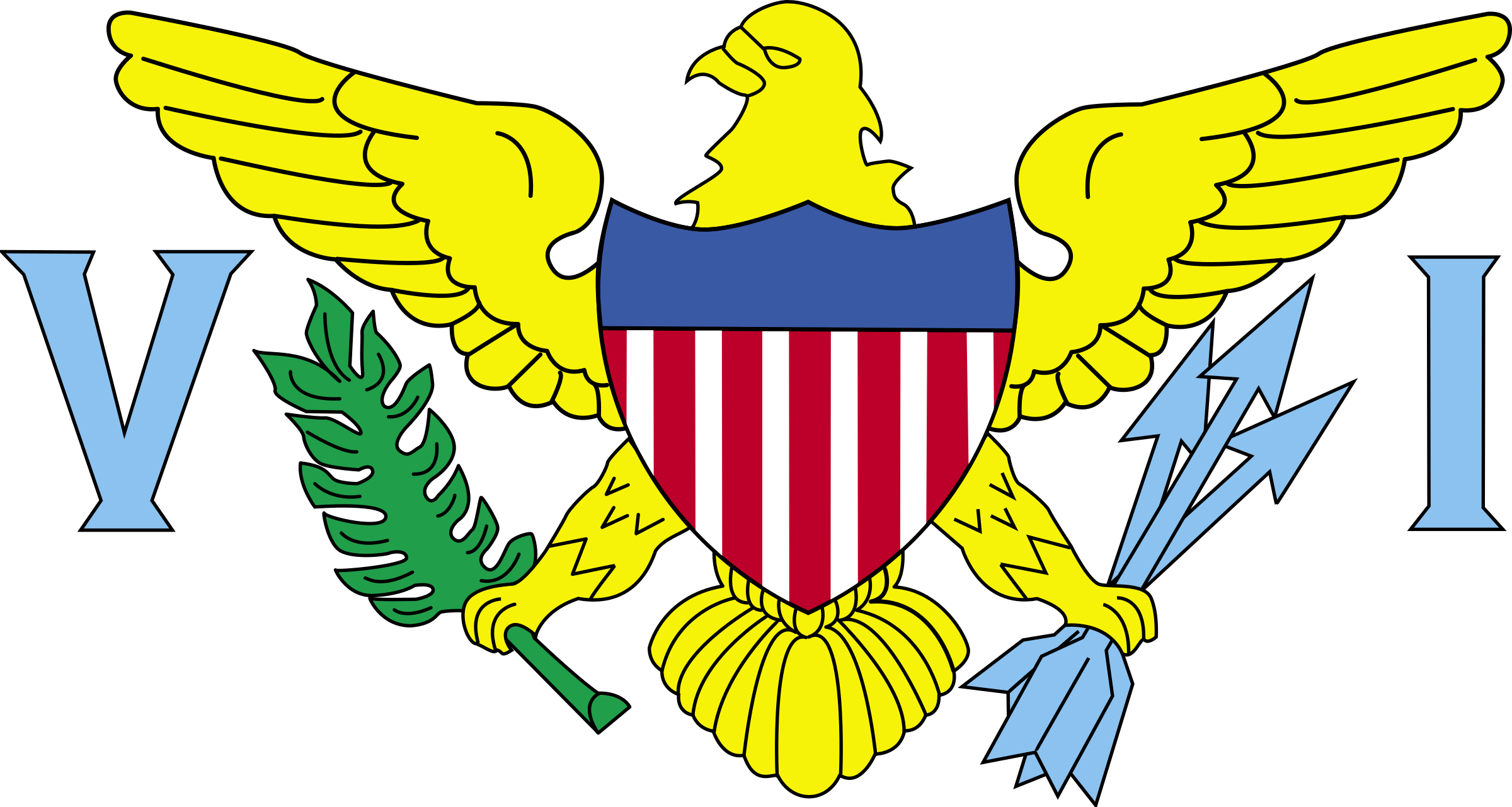 Flag of US Virgin Islands - United States by tobias
