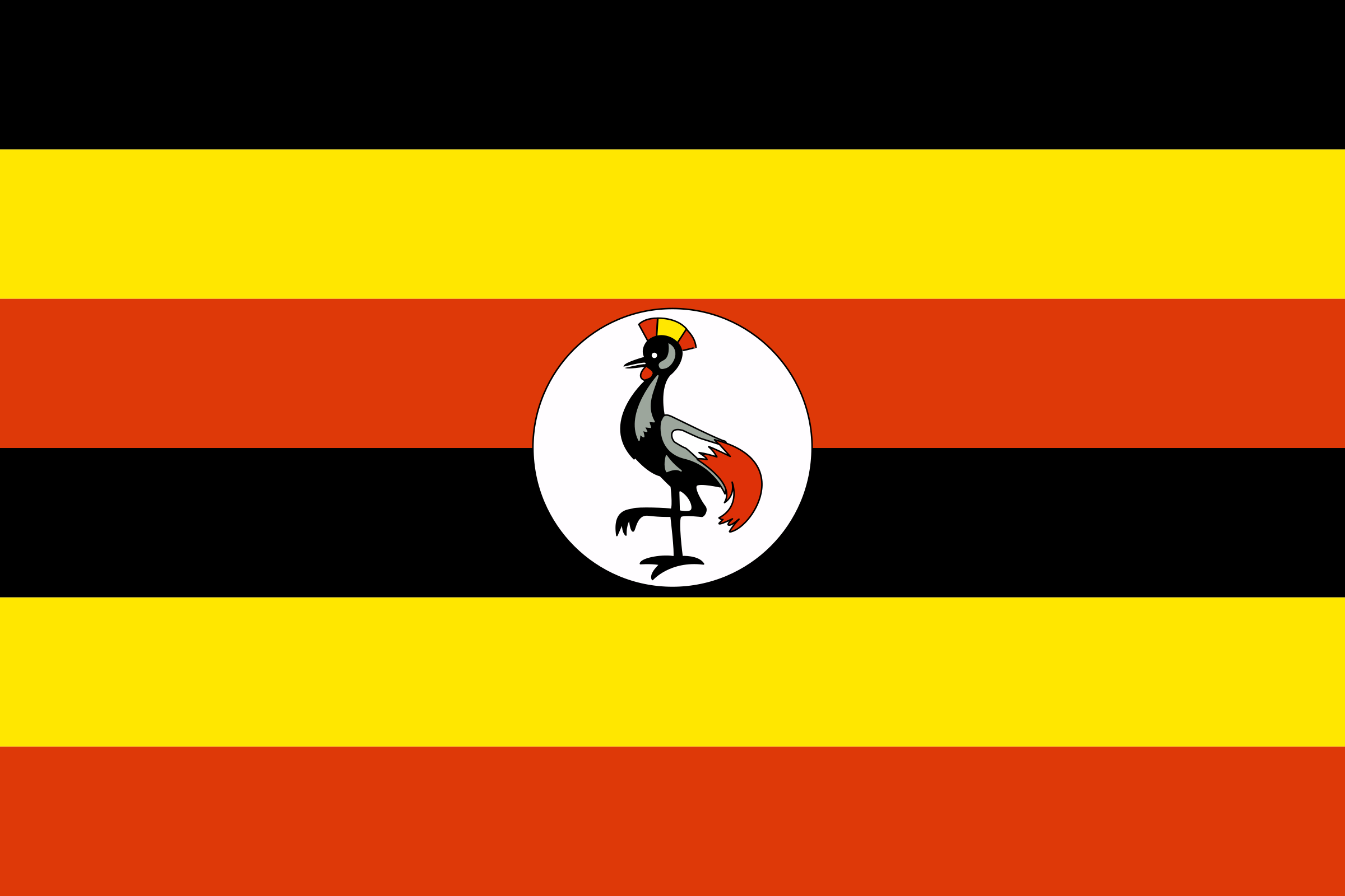 Flag of Uganda by tobias