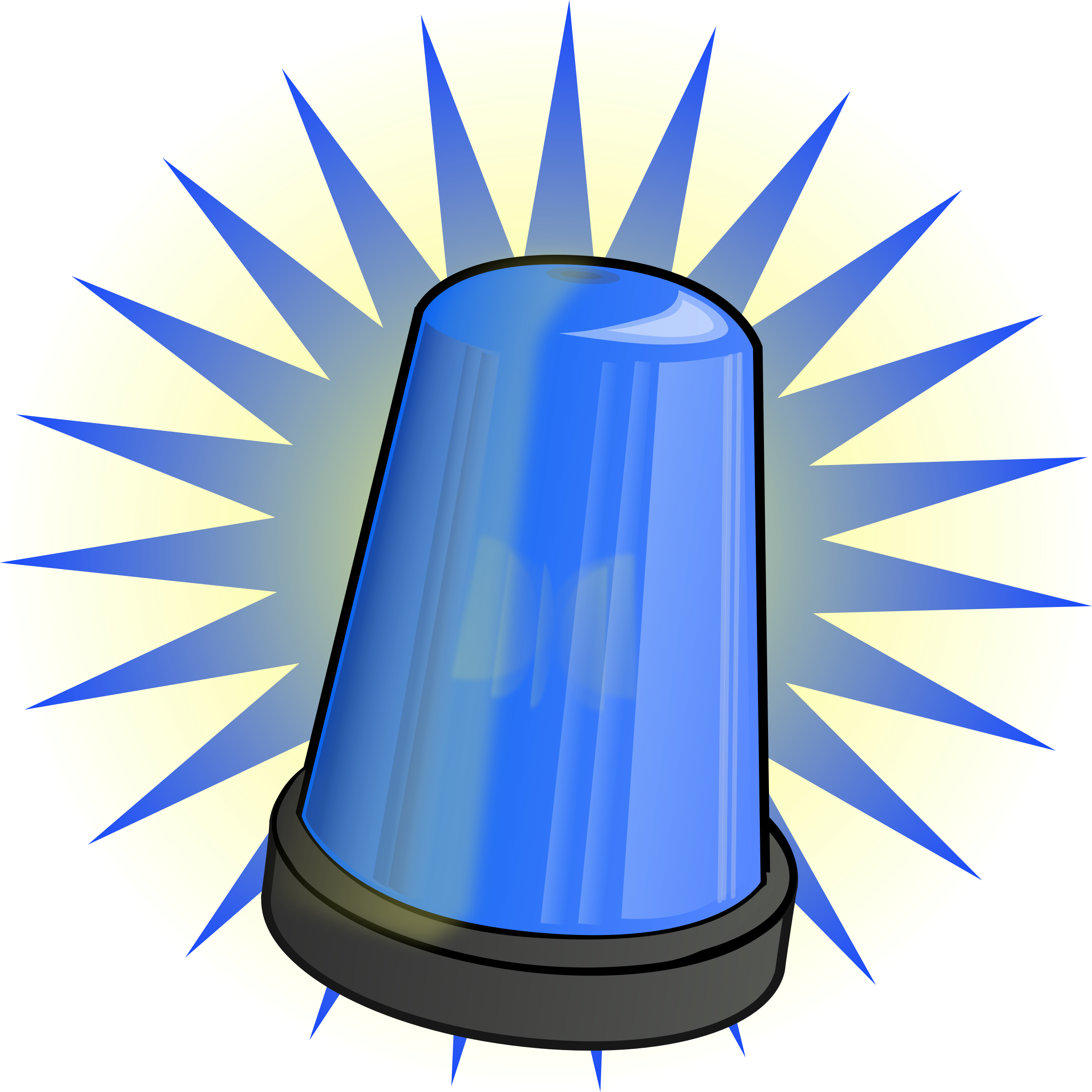 Blue signal light by qubodup