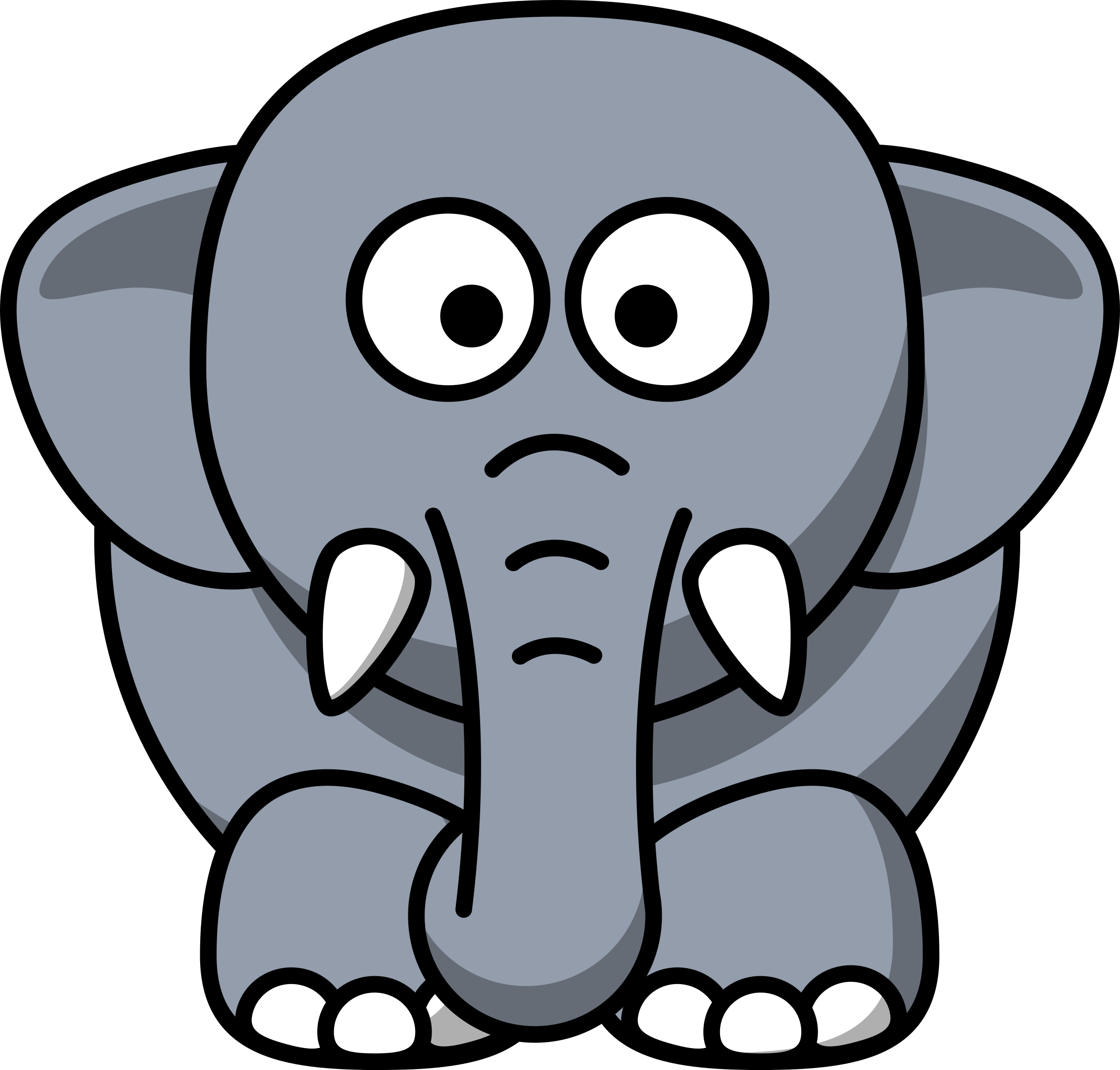 Cartoon elephant by lemmling