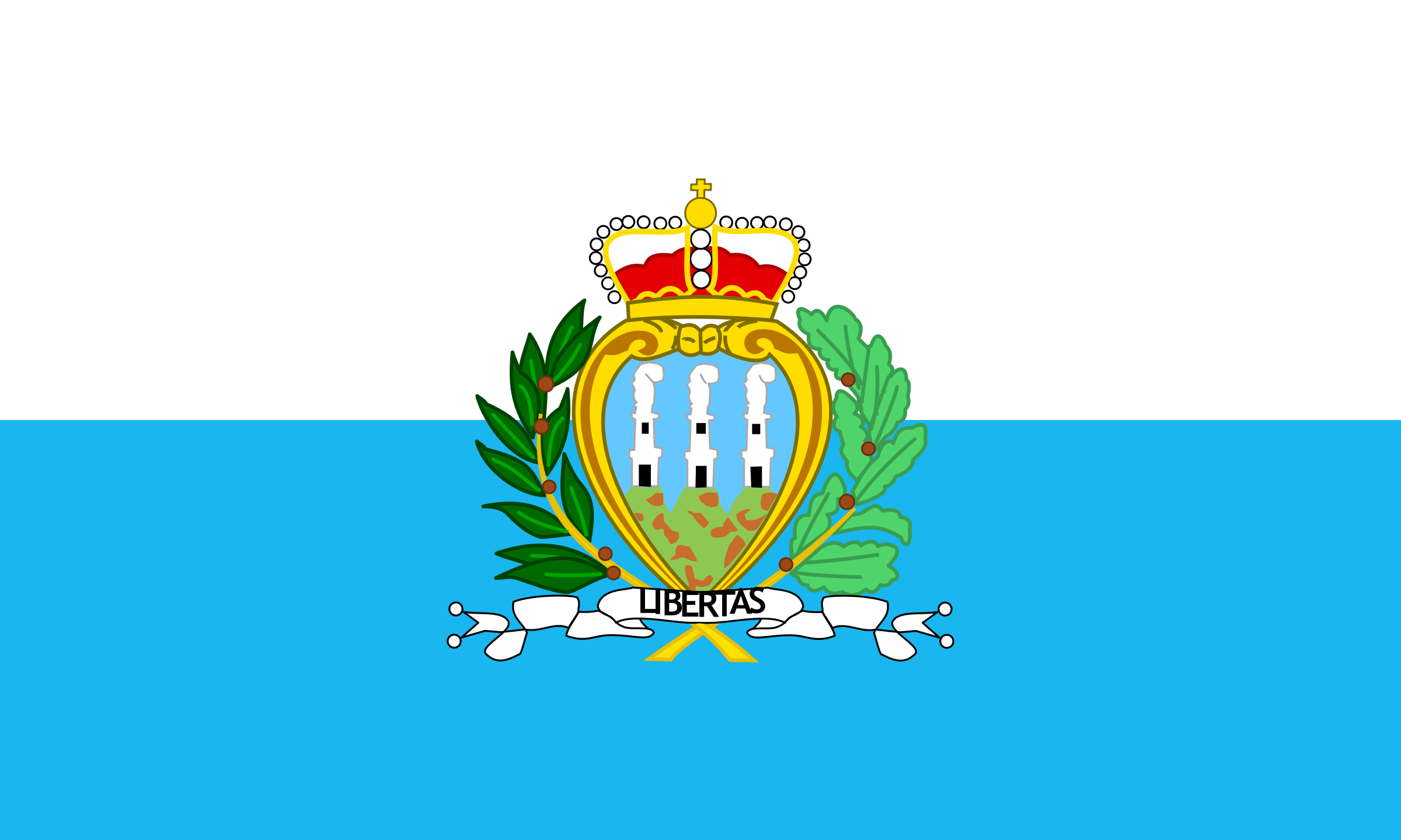 Flag of San Marino by tobias
