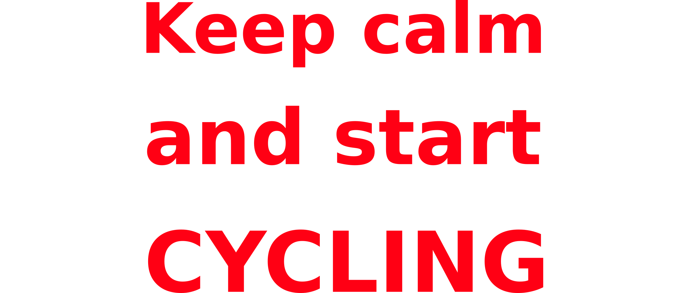Keep calm & start cycling by mauriceg