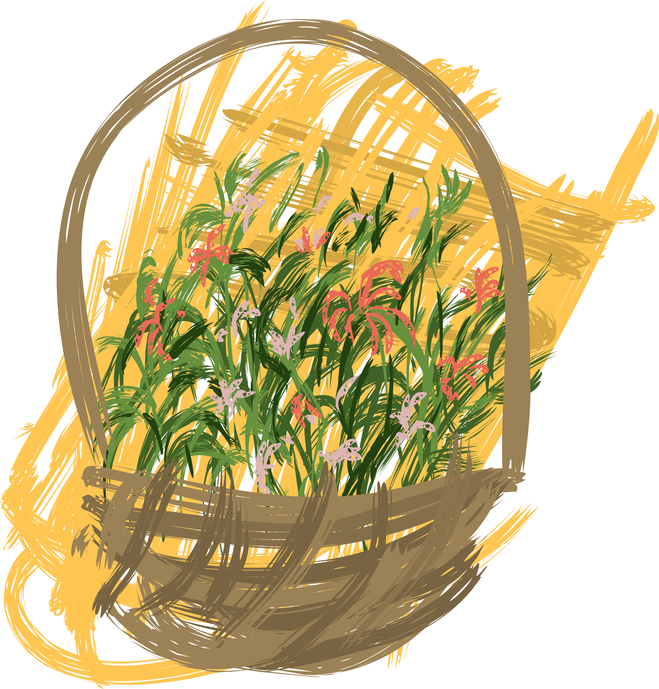 flowers basket by OlKu