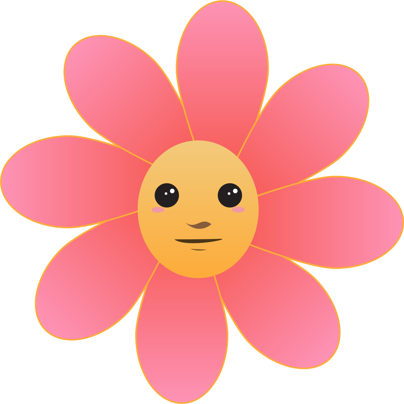 Flower face by intergrapher