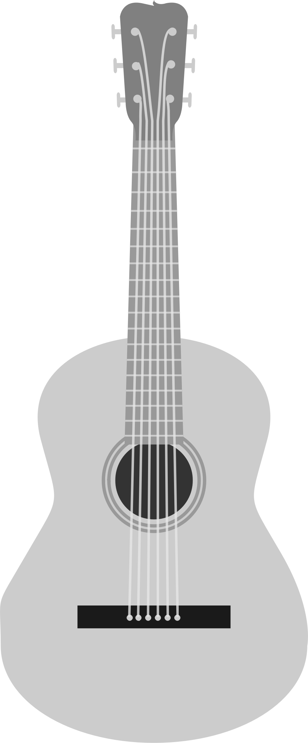 Grayscale acoustic guitar by ScarTissue