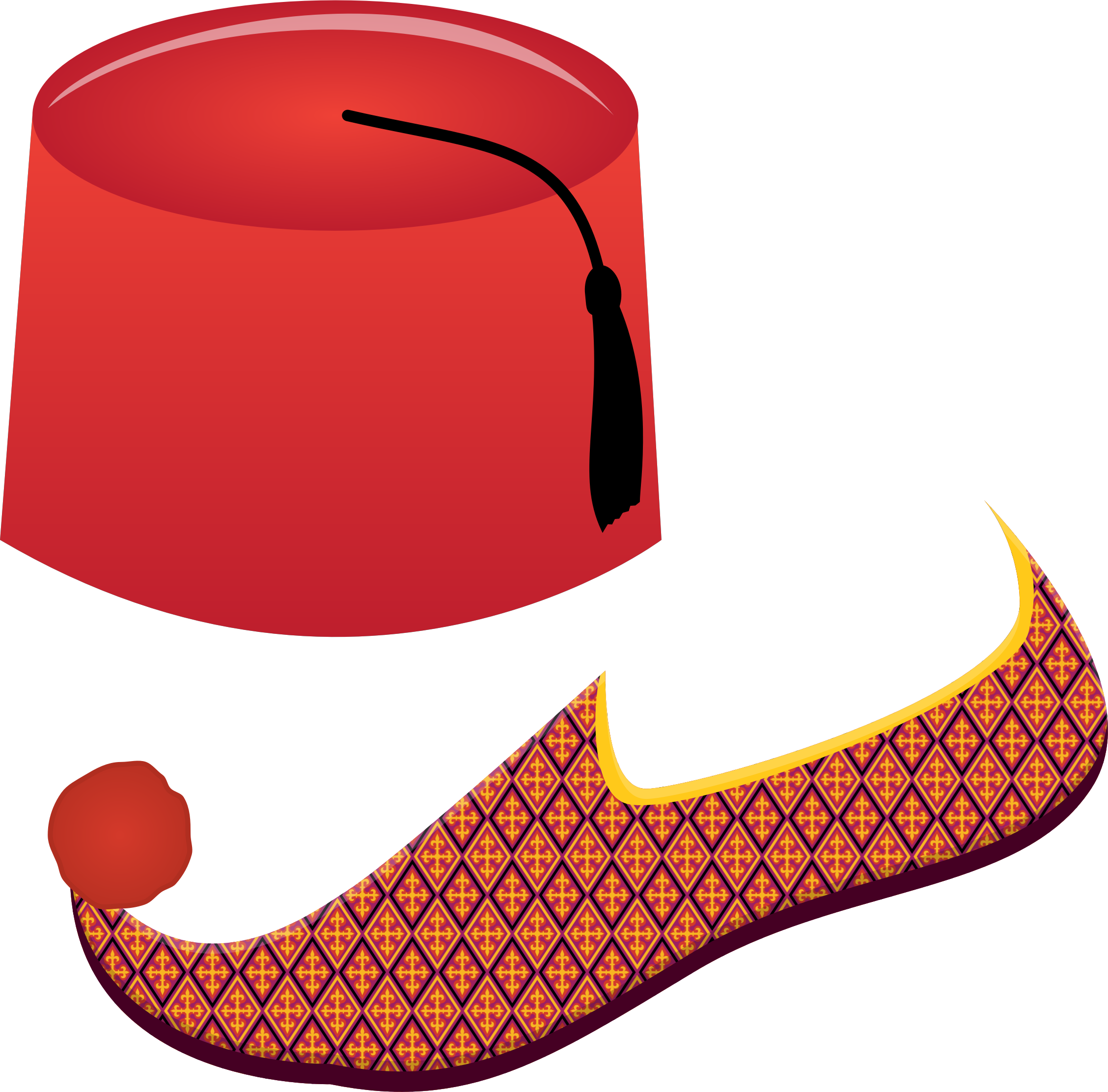 Fez and Turkish Shoe by intergrapher
