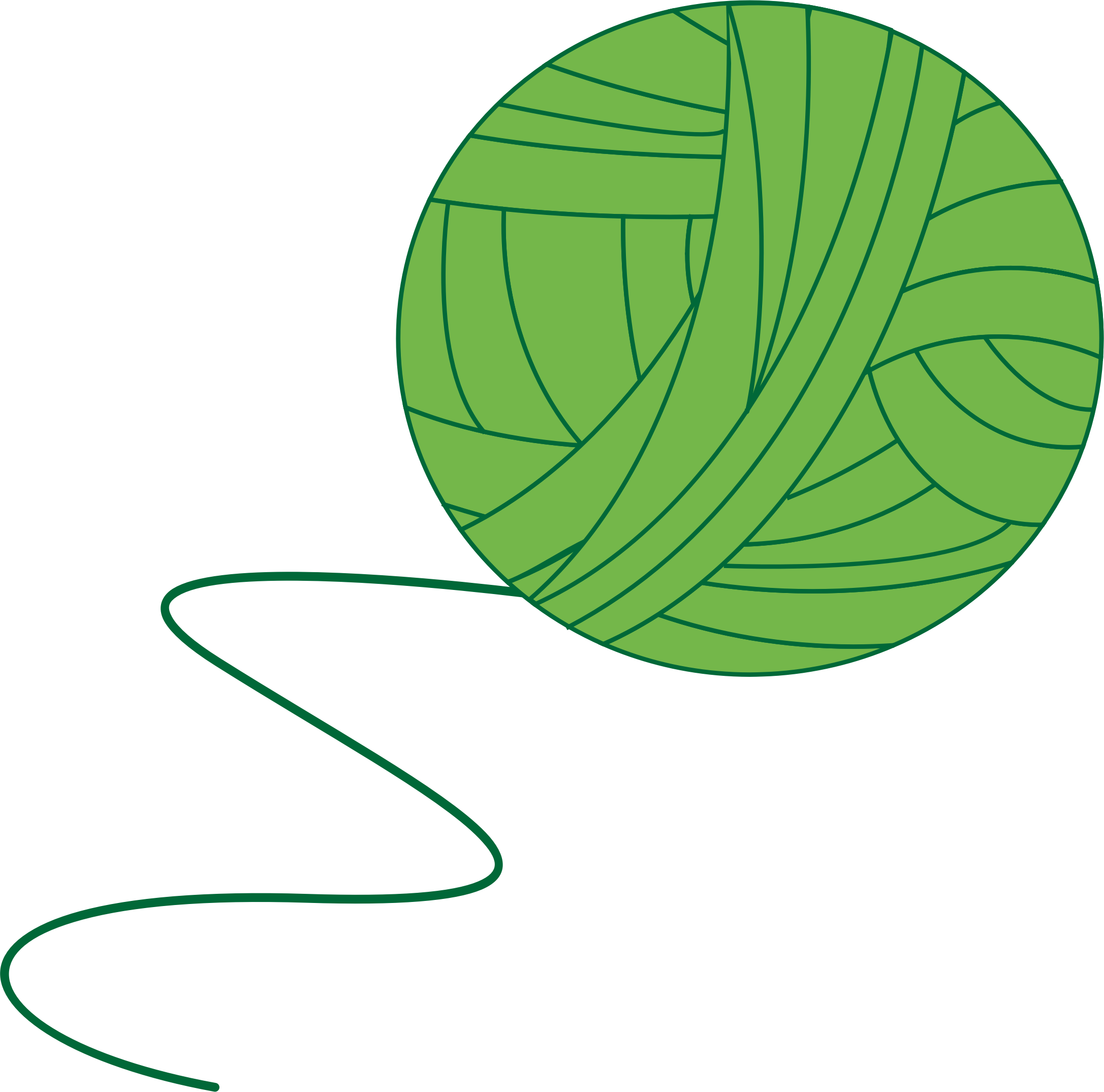Green Ball of Yarn by intergrapher