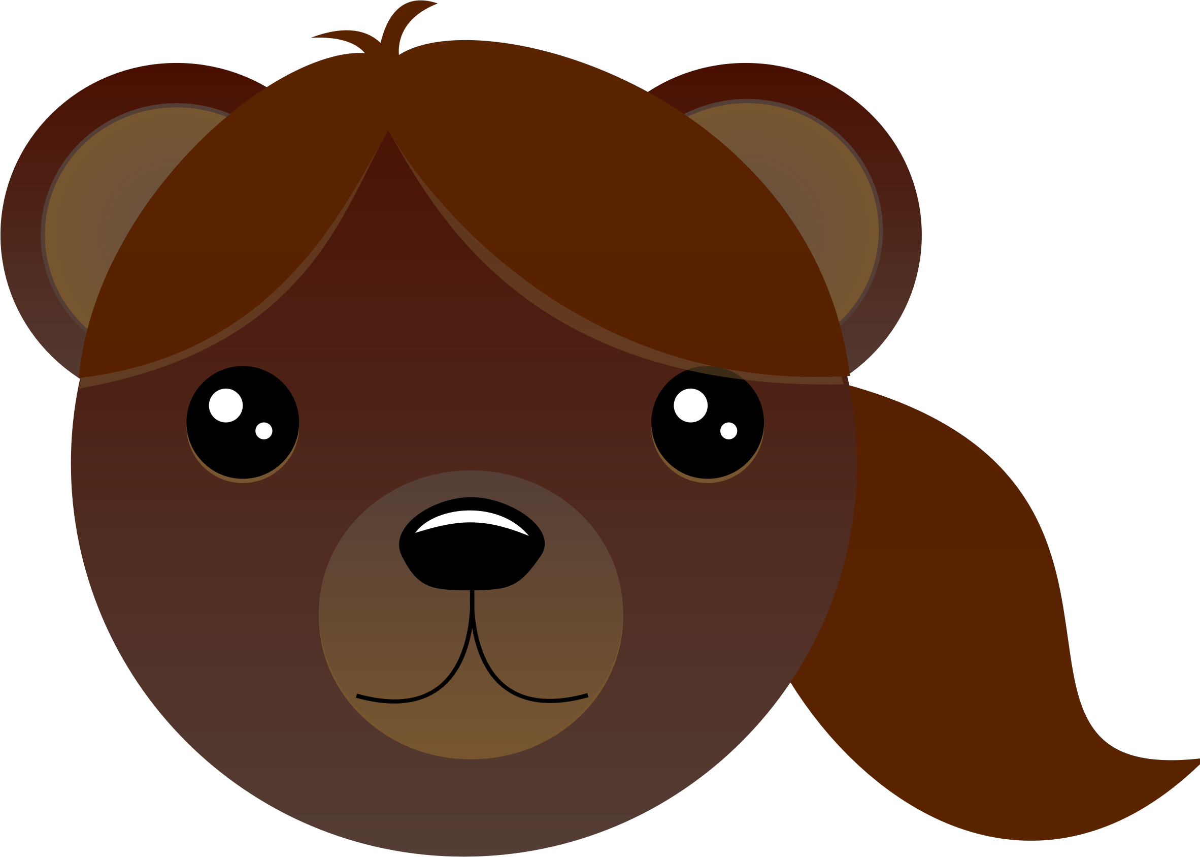 Brown bear with pony tail by intergrapher
