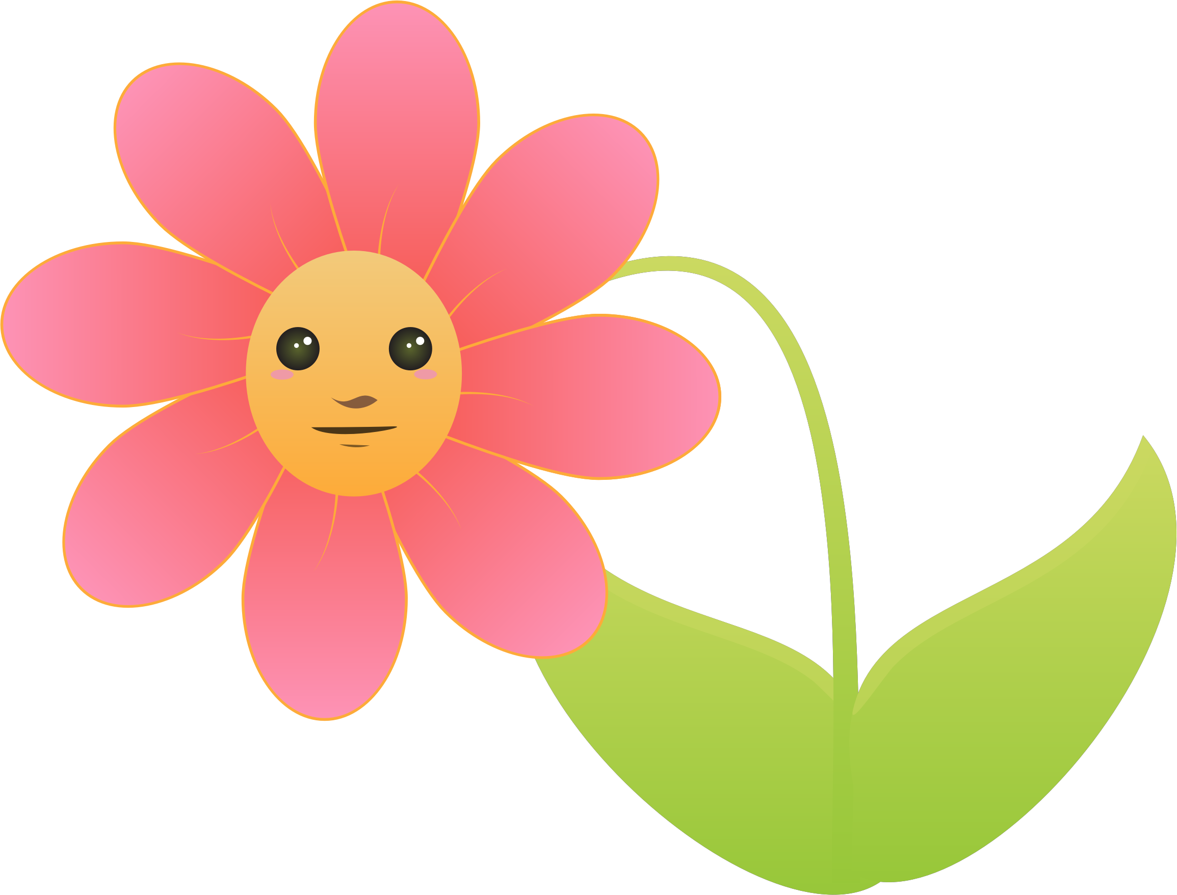 Flower with face by intergrapher