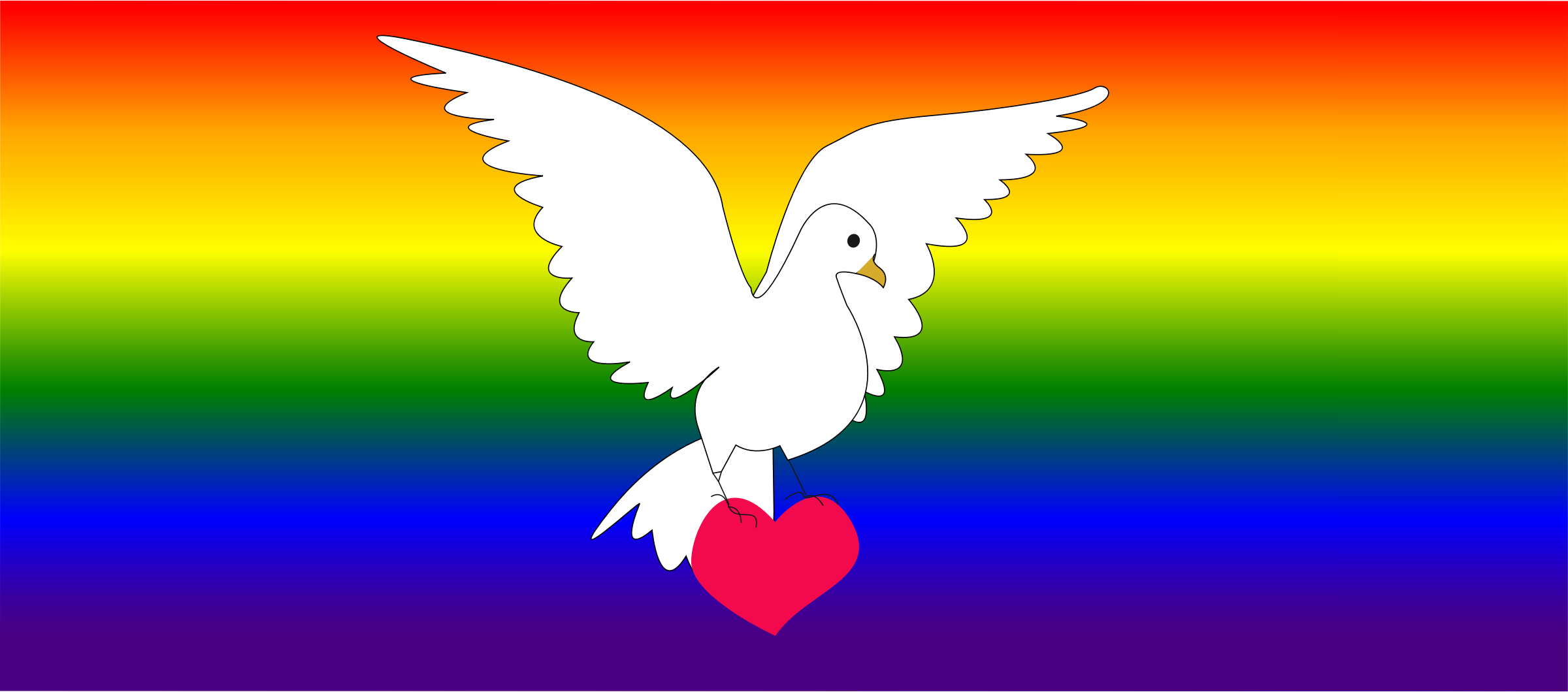 Dove of peace and love by presquesage