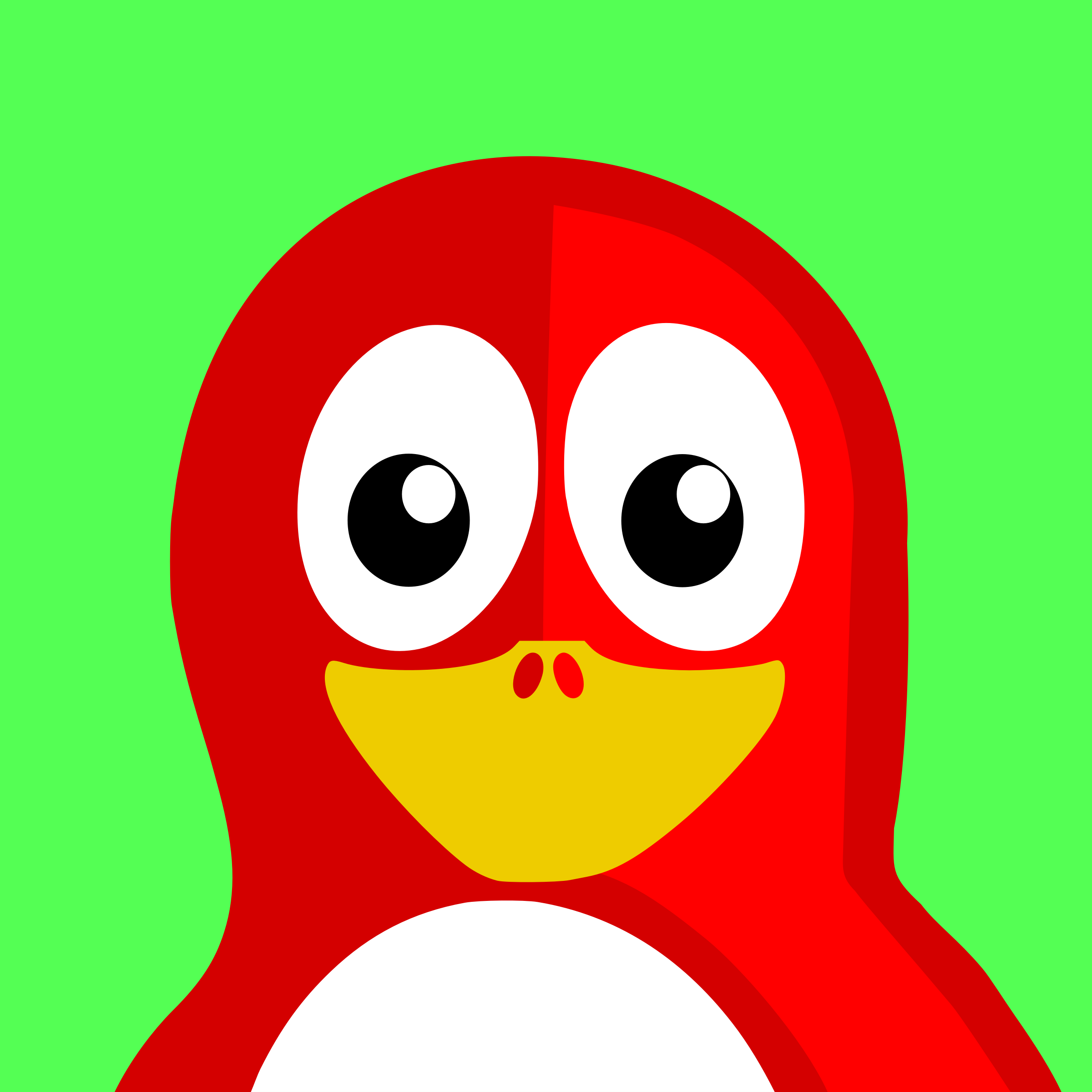 red penguin by BartM