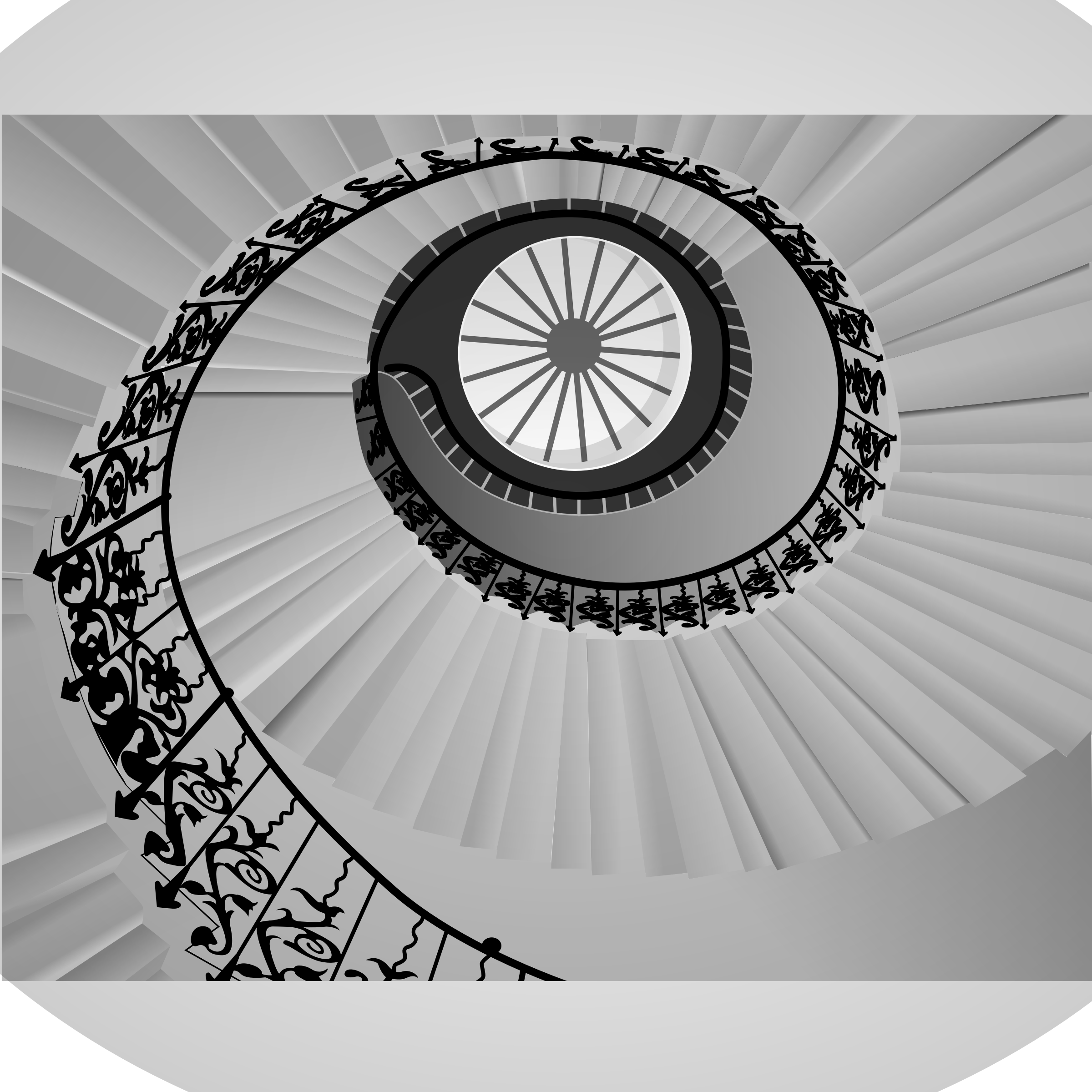 Spiral staircase by Gespenst
