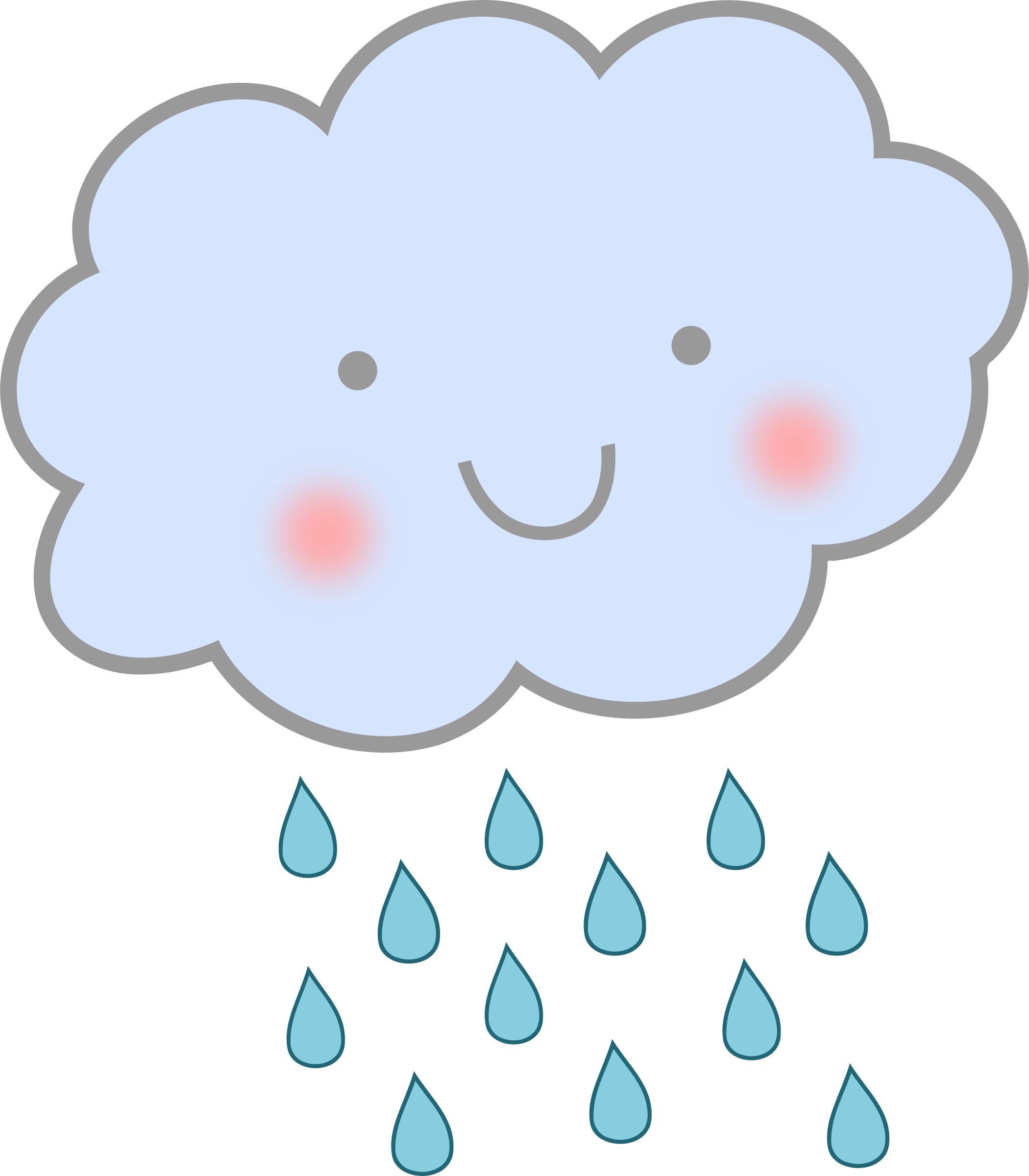 Cute Rain Cloud by uroesch