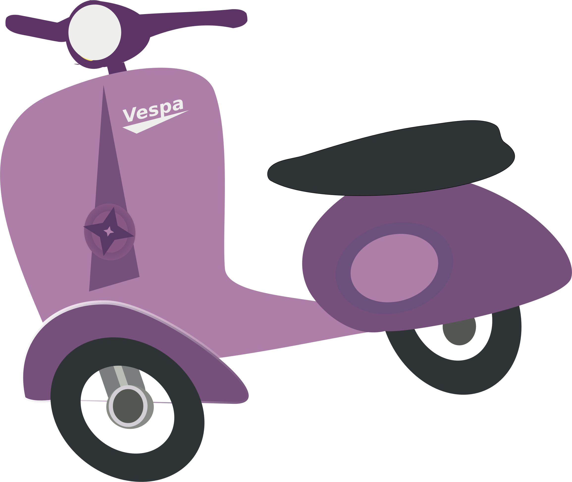 Purple Vespa scooter by chatard