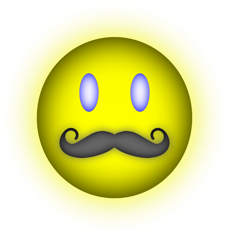 Happy Face Mustache by kaleah777
