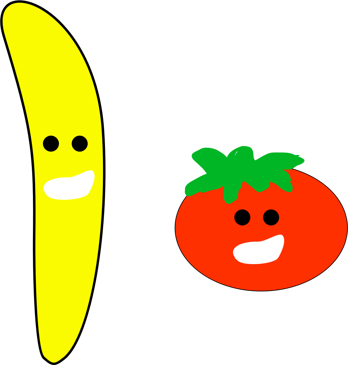 Banana and Tomato  by jykhui