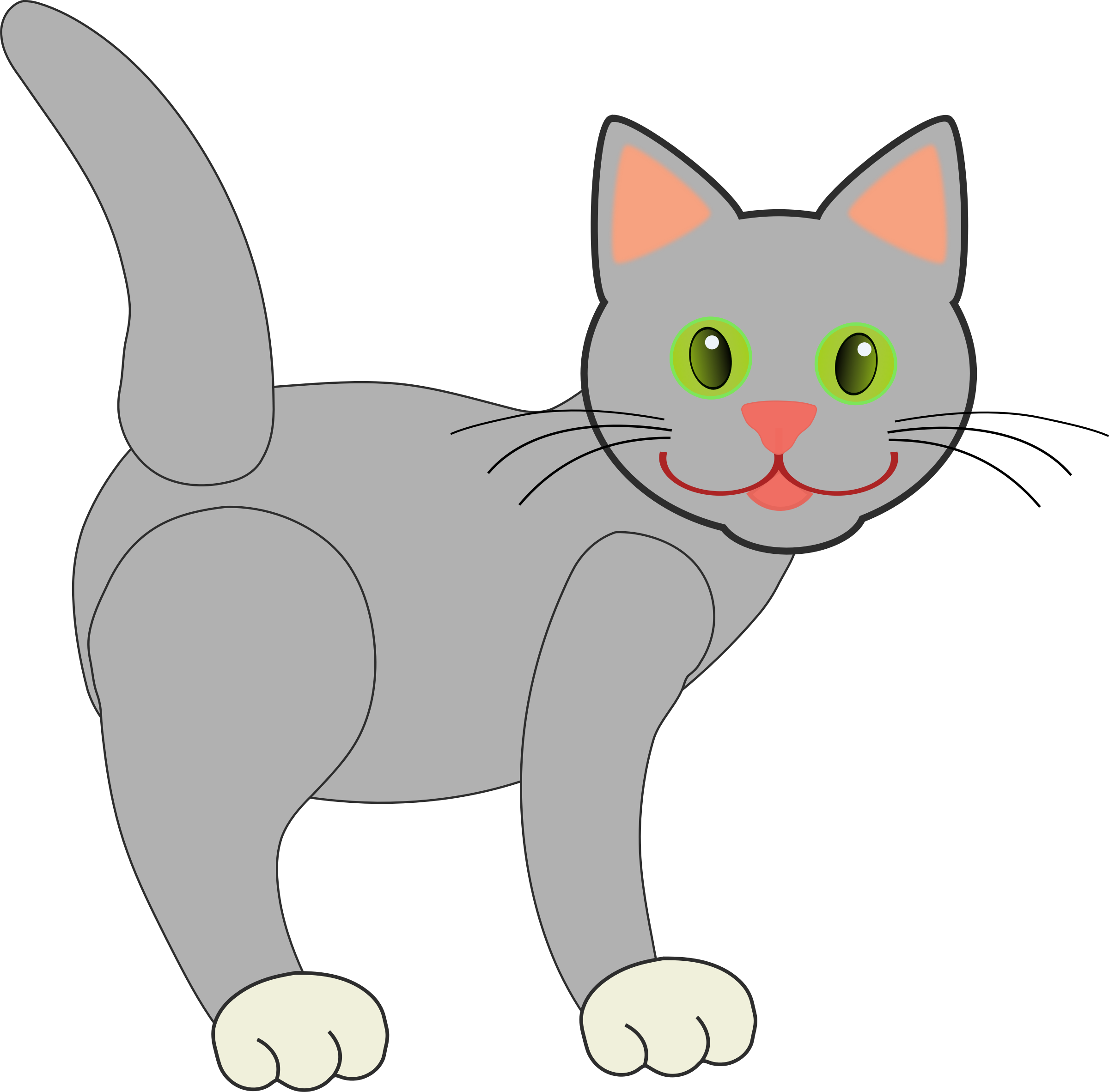 Gray Cat by Deb53