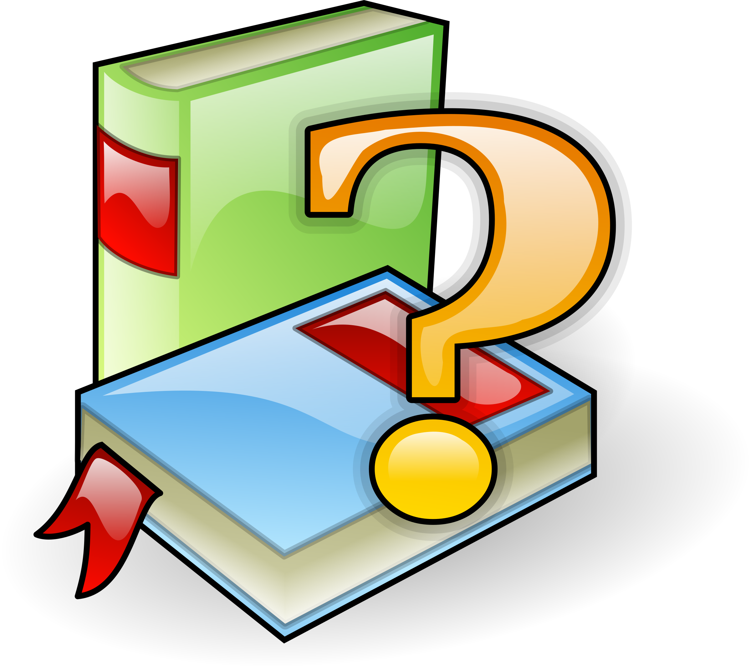 Books with question mark by AJ